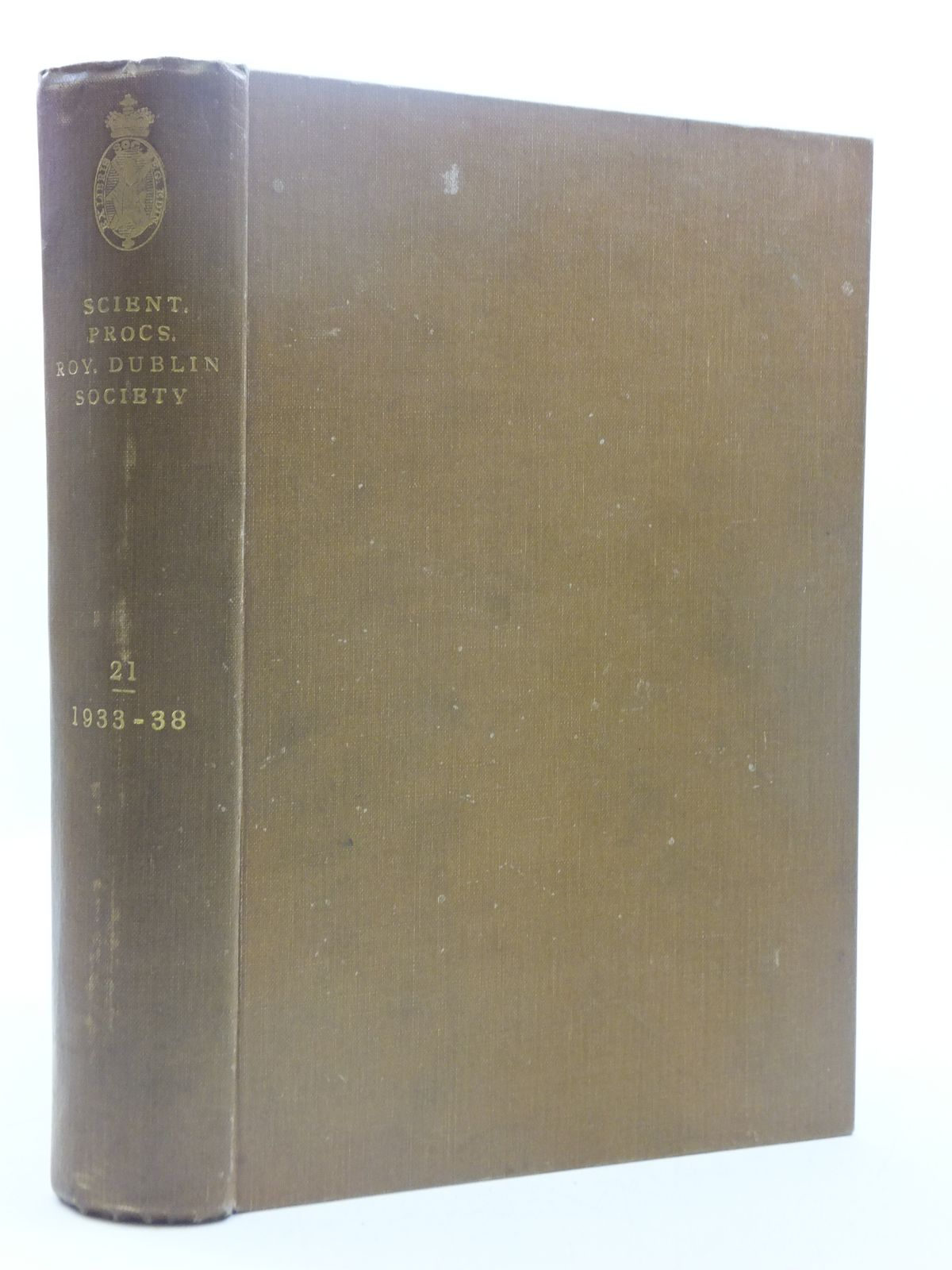 Photo of THE SCIENTIFIC PROCEEDINGS OF THE ROYAL DUBLIN SOCIETY VOLUME 21 (1933-1938)
