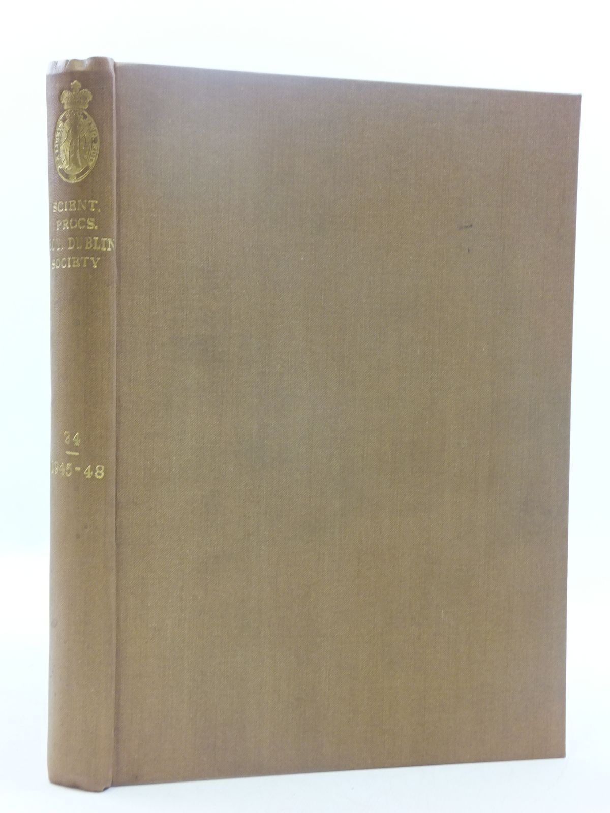 Photo of THE SCIENTIFIC PROCEEDINGS OF THE ROYAL DUBLIN SOCIETY VOLUME 24 (1945-48)