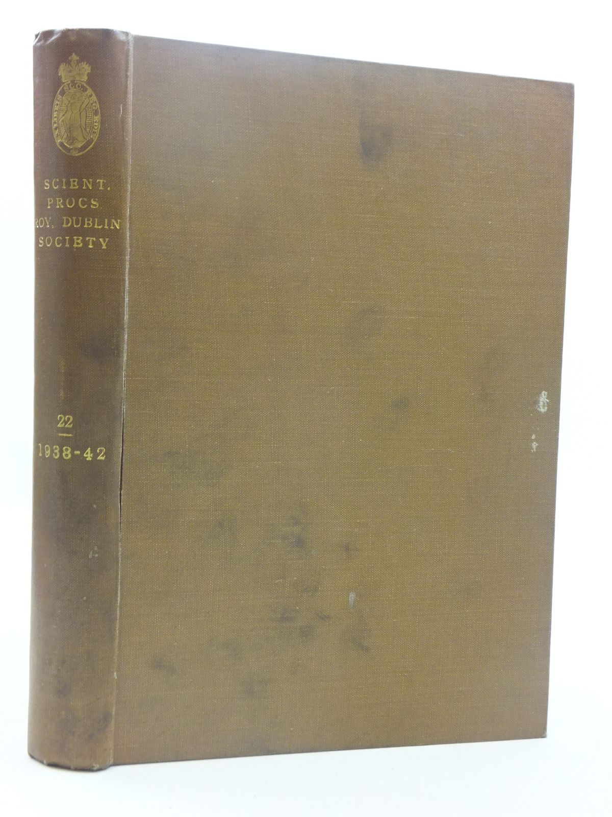 Photo of THE SCIENTIFIC PROCEEDINGS OF THE ROYAL DUBLIN SOCIETY VOLUME 22 (1938-42)