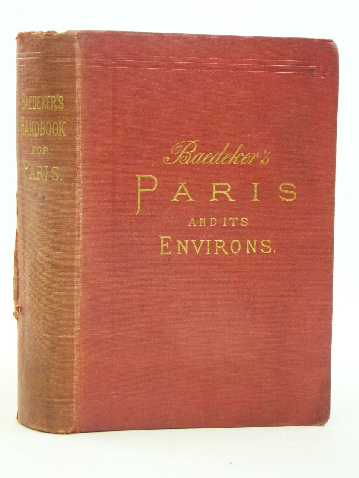 Photo of PARIS AND ENVIRONS written by Baedeker, Karl published by Karl Baedeker (STOCK CODE: 1605475)  for sale by Stella & Rose's Books