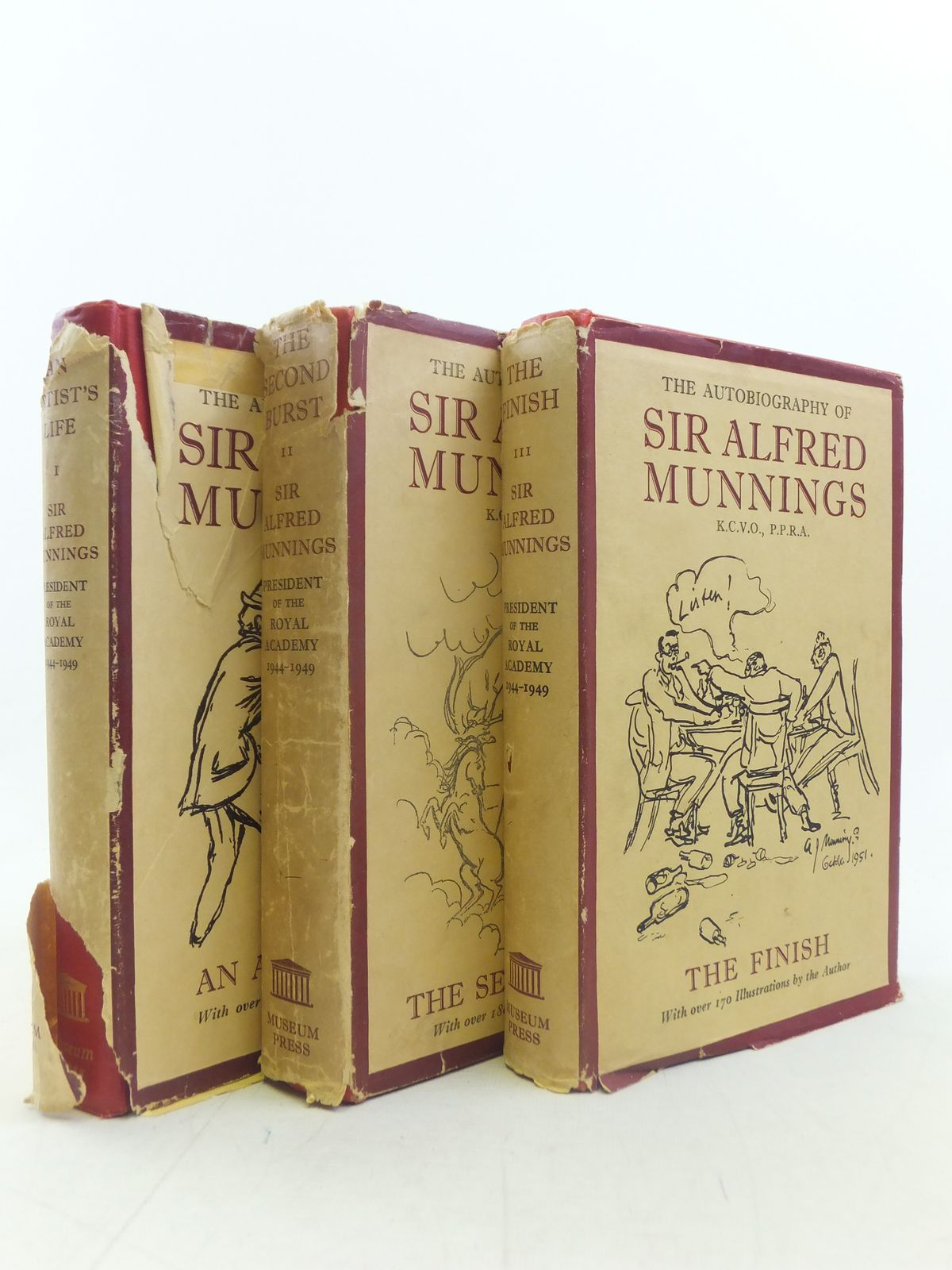 The Autobiography Of Sir Alfred Munnings 3 Volumes