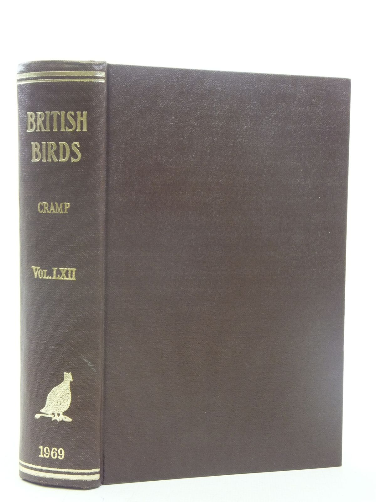 Photo of BRITISH BIRDS VOL. LXII written by Cramp, Stanley published by H.F. & G. Witherby Ltd. (STOCK CODE: 1607102)  for sale by Stella & Rose's Books