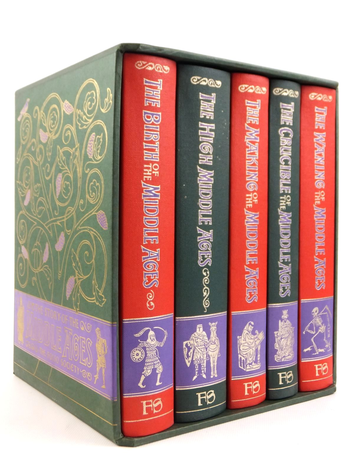Photo of THE STORY OF THE MIDDLE AGES (5 VOLUMES) written by Moss, H. St. L.B.<br />Barraclough, Geoffrey<br />Southern, R.W.<br />Mundy, John H.<br />Huizinga, Johan published by Folio Society (STOCK CODE: 1608451)  for sale by Stella & Rose's Books