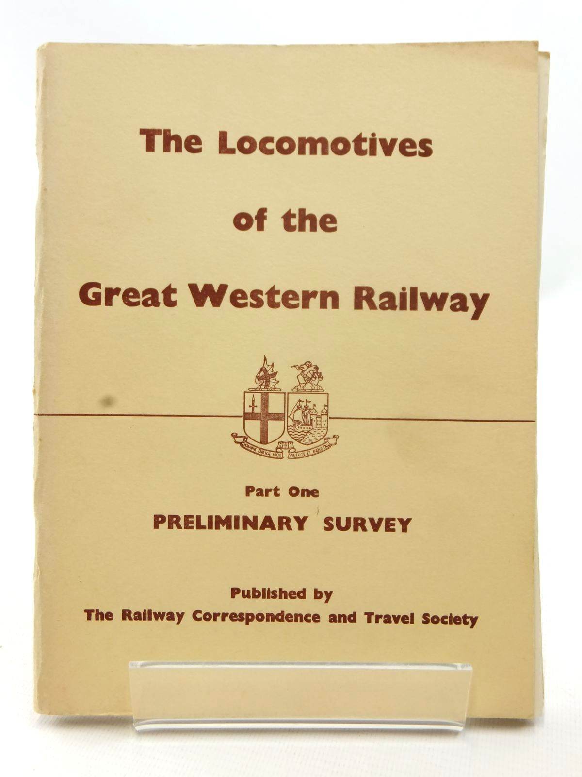 Photo of THE LOCOMOTIVES OF THE GREAT WESTERN RAILWAY PART ONE published by The Railway Correspondence And Travel Society (STOCK CODE: 1609043)  for sale by Stella & Rose's Books