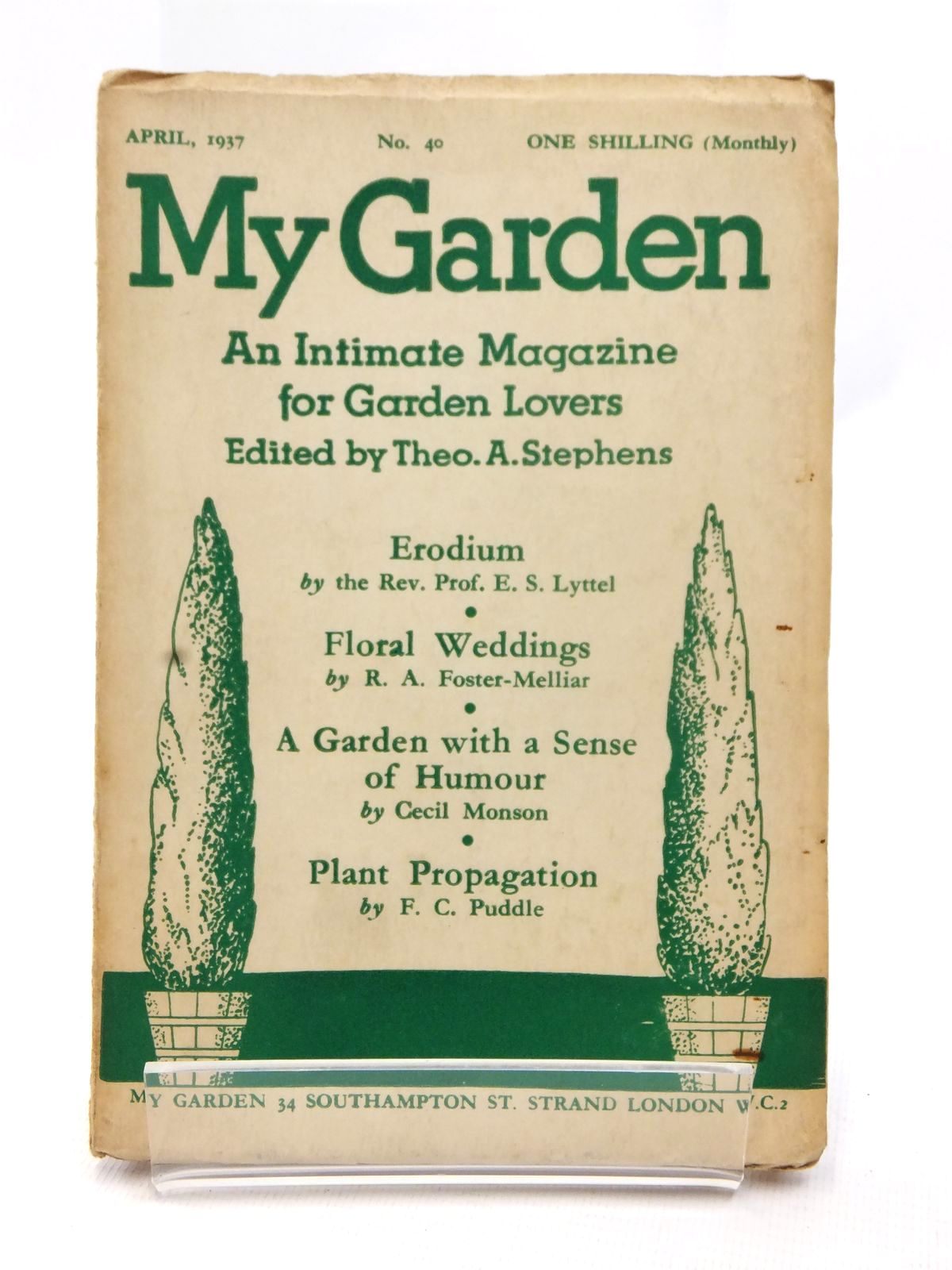 Photo of MY GARDEN APRIL 1937 (VOL. 10 No. 40) written by Stephens, Theo A.<br />Johns, W.E. published by My Garden (STOCK CODE: 1609234)  for sale by Stella & Rose's Books