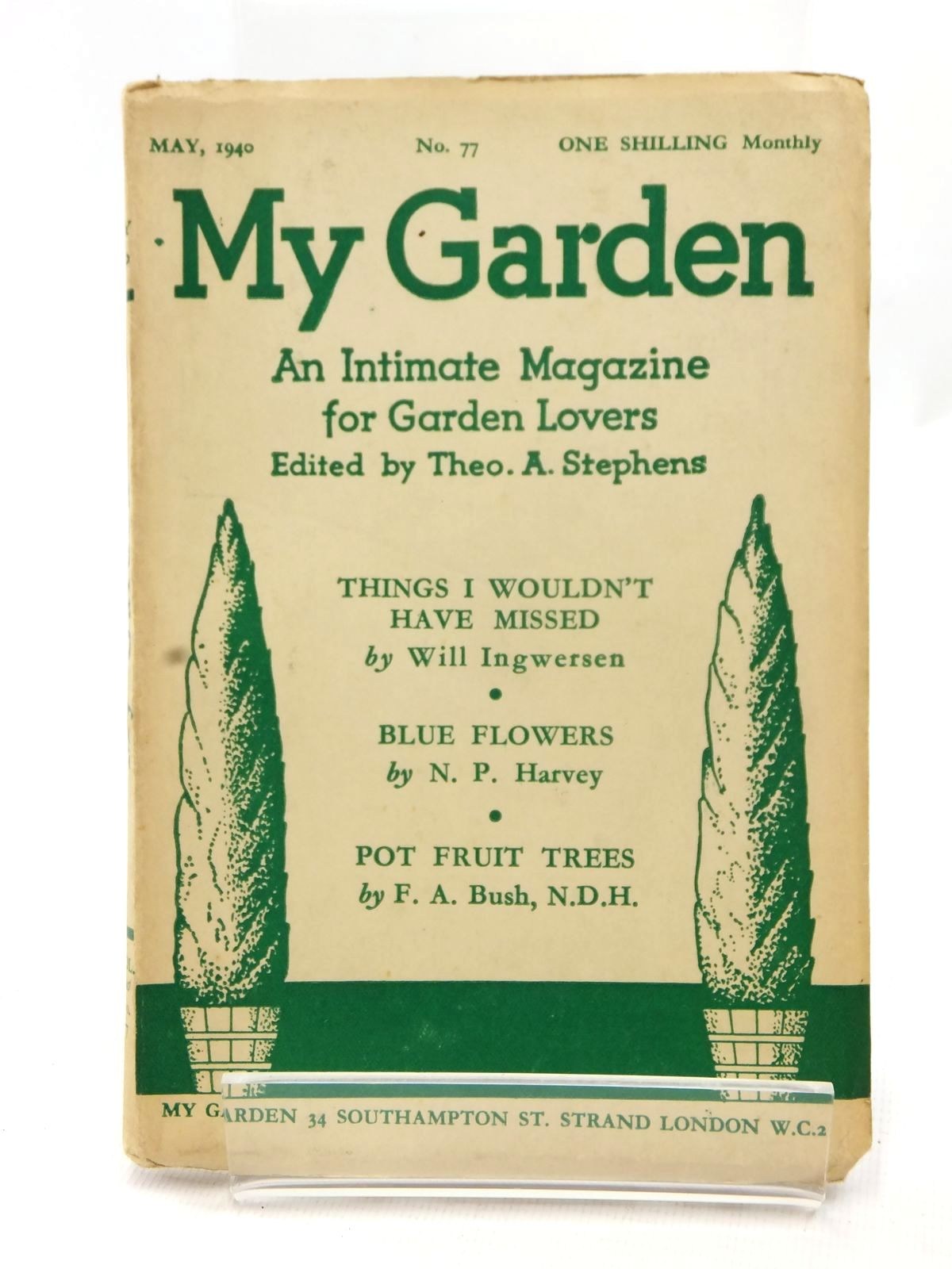 Photo of MY GARDEN MAY 1940 (VOL. 20 No. 77) written by Stephens, Theo A.<br />Johns, W.E. published by My Garden (STOCK CODE: 1609235)  for sale by Stella & Rose's Books