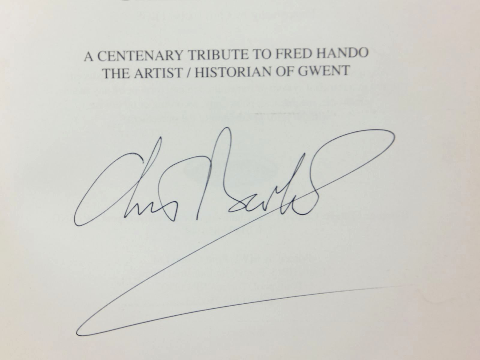 Photo of HANDO'S GWENT written by Barber, Chris illustrated by Hando, Fred J. published by Blorenge Books (STOCK CODE: 1609702)  for sale by Stella & Rose's Books