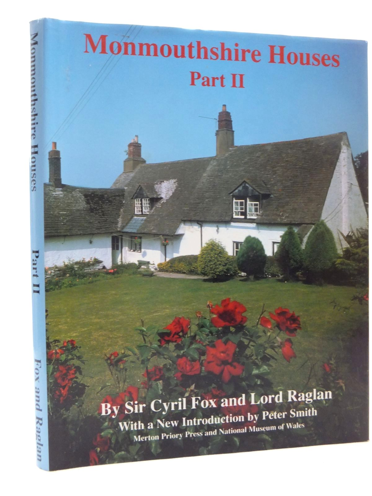 Photo of MONMOUTHSHIRE HOUSES PART II SUB-MEDIEVAL HOUSES C.1550-1610 written by Fox, Cyril<br />Raglan, Lord published by Merton Priory Press, National Museum of Wales (STOCK CODE: 1609867)  for sale by Stella & Rose's Books