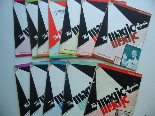 Photo of THE MAGIC MAGAZINE VOL 1 (12 ISSUES) 1952/1953