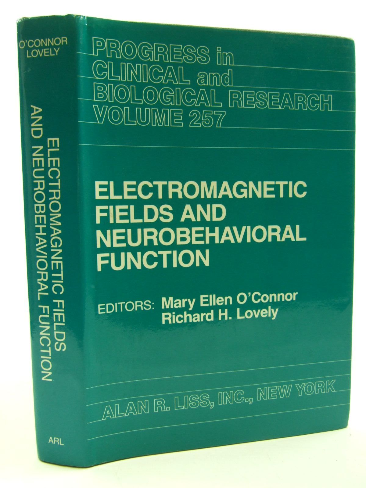 Photo of ELECTRONMAGNETIC FIELDS AND NEUROBEHAVIORAL FUNCTION written by O'Connor, Mary Ellen<br />Lovely, Richard H. published by Alan R. Liss Inc (STOCK CODE: 1707644)  for sale by Stella & Rose's Books