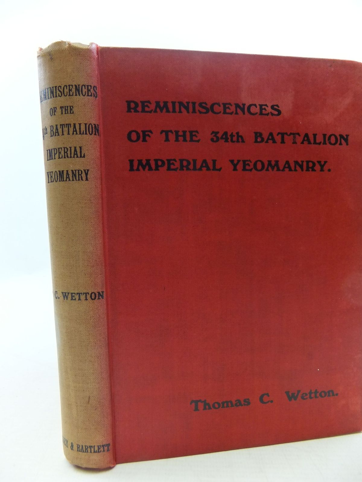Photo of REMINISCENCES OF THE 34TH BATTALION, IMPERIAL YEOMANRY