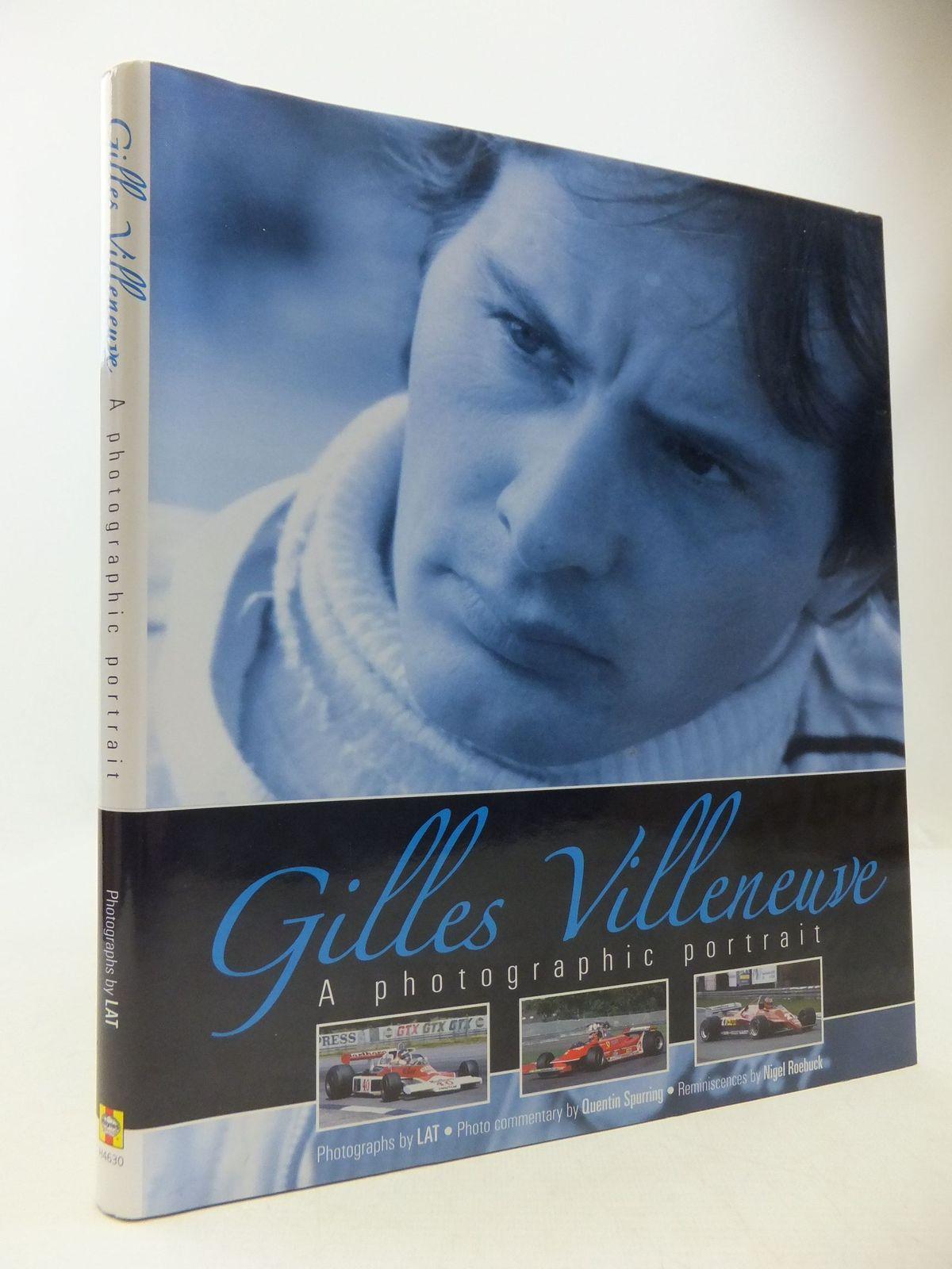 Photo of GILLES VILLENEUVE A PHOTOGRAPHIC PORTRAIT