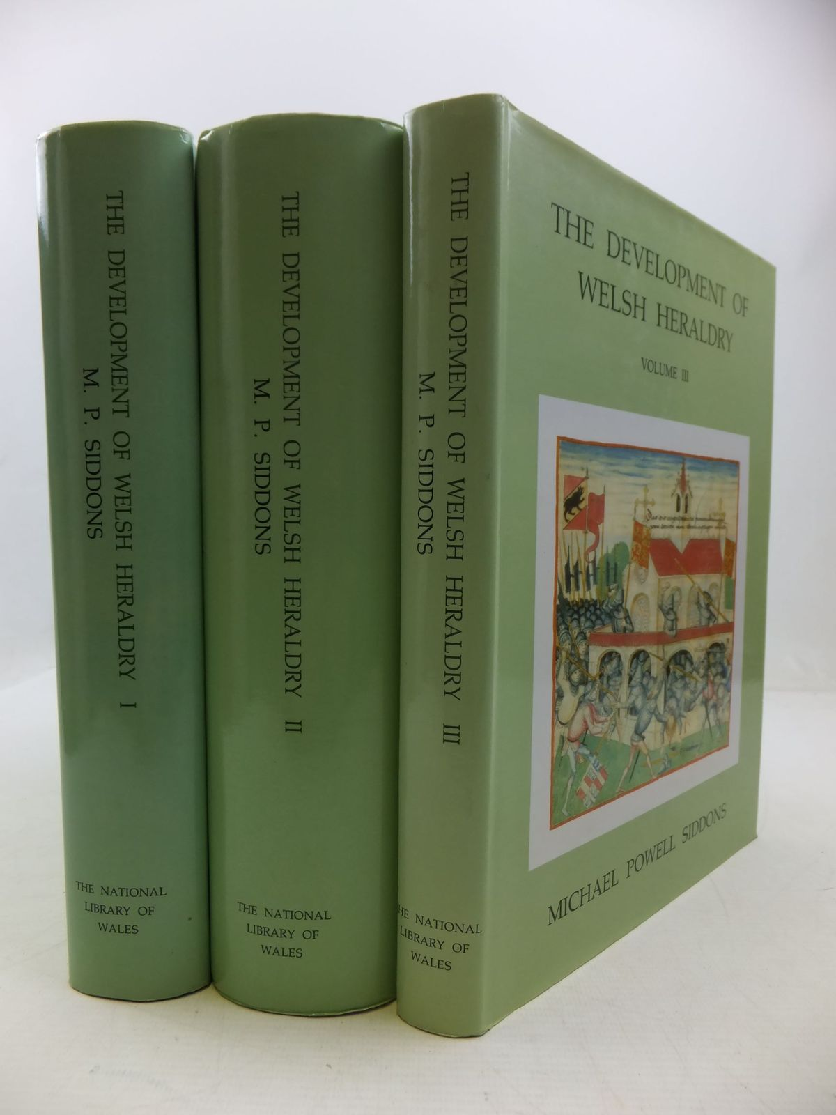 Photo of THE DEVELOPMENT OF WELSH HERALDRY (3 VOLUMES) written by Siddons, Michael Powell published by The National Library of Wales (STOCK CODE: 1709382)  for sale by Stella & Rose's Books