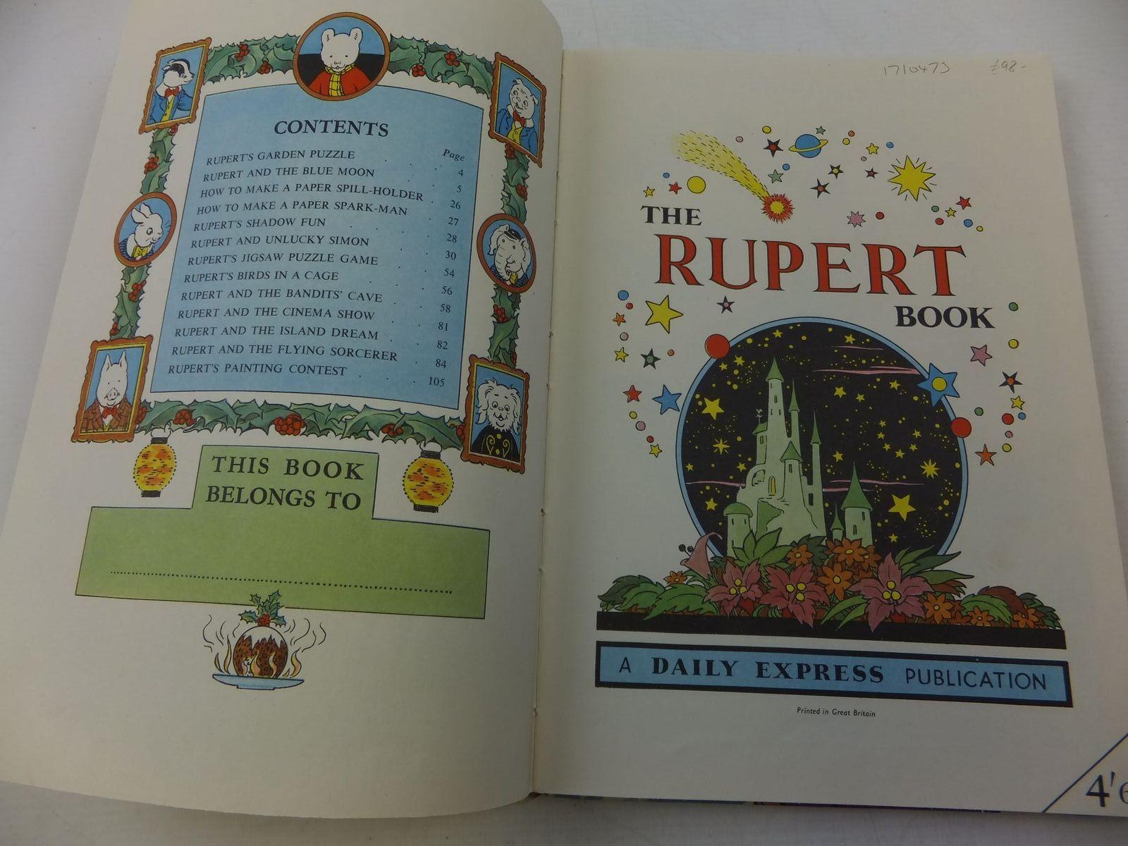 RUPERT ANNUAL 1956 - THE RUPERT BOOK written by Bestall