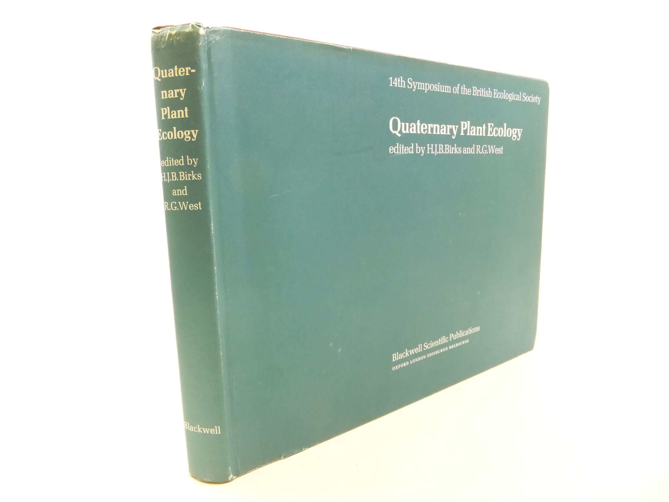 Photo of QUATERNARY PLANT ECOLOGY written by Birks, H.J.B.<br />West, R.G. published by Blackwell Scientific Publications (STOCK CODE: 1710885)  for sale by Stella & Rose's Books
