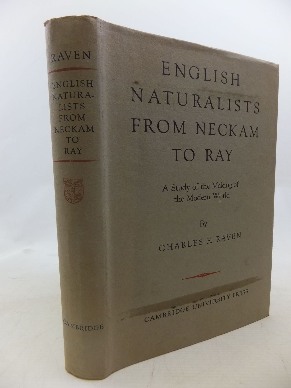 Photo of ENGLISH NATURALISTS FROM NECKHAM TO RAY written by Raven, Charles E. published by Cambridge University Press (STOCK CODE: 1712293)  for sale by Stella & Rose's Books
