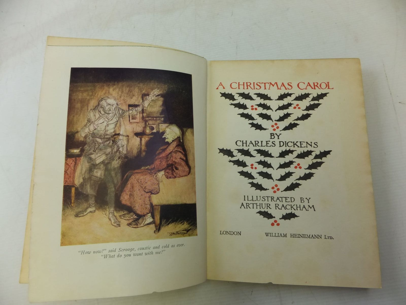 photo of a christmas carol written by dickens charles illustrated by rackham arthur published - When Was A Christmas Carol Published