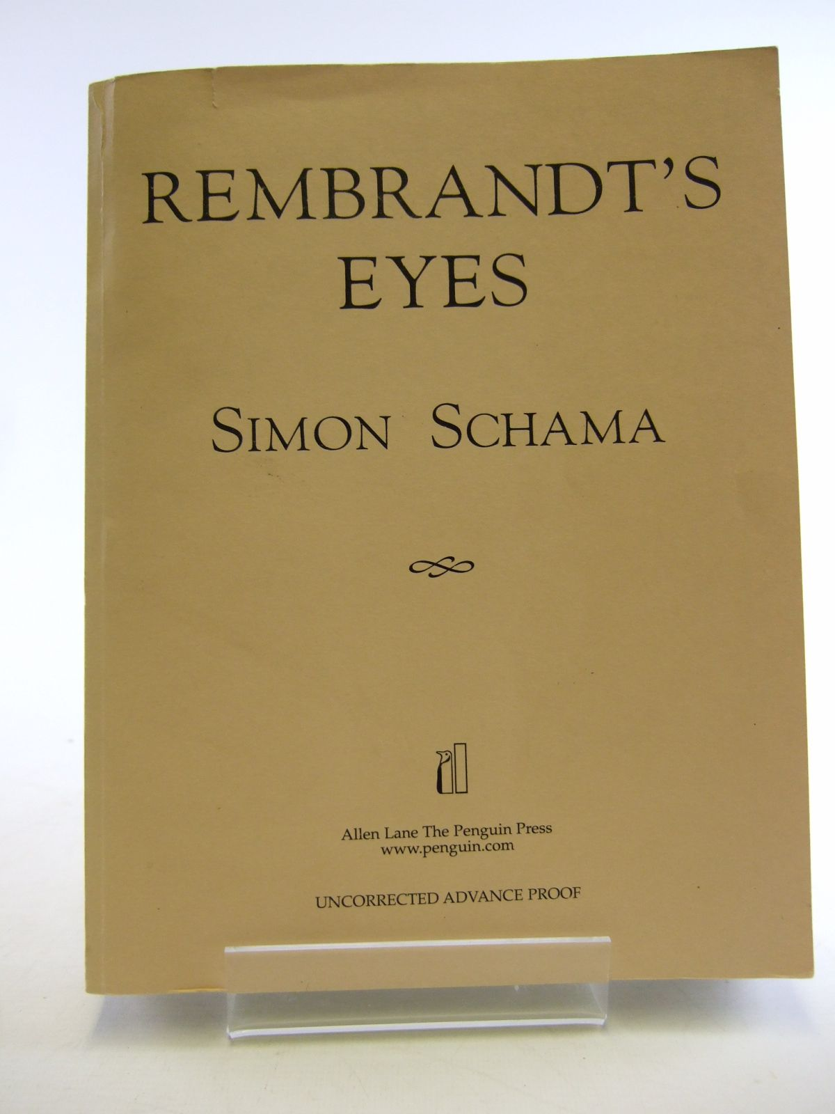 Photo of REMBRANDT'S EYES written by Schama, Simon illustrated by Rembrandt,  published by Allen Lane, Penguin Press (STOCK CODE: 1805637)  for sale by Stella & Rose's Books