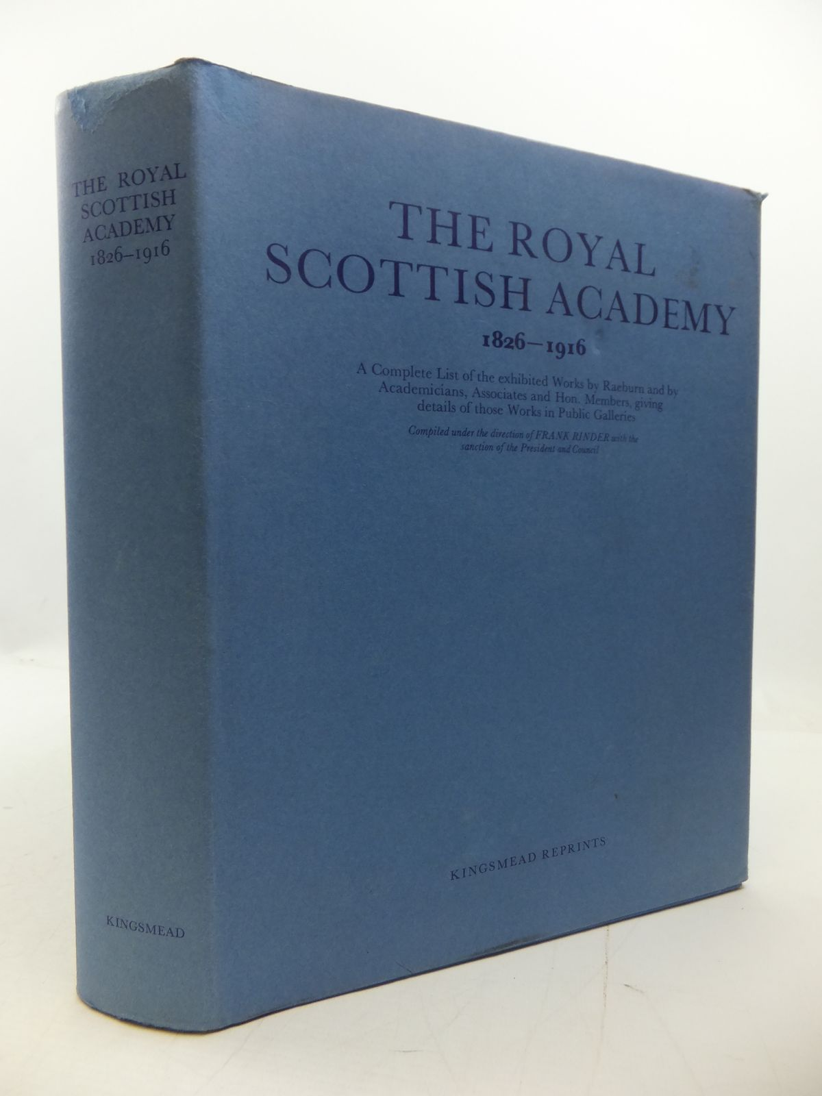 Photo of THE ROYAL SCOTTISH ACADEMY 1826-1916 written by Rinder, Frank published by Kingsmead Reprints (STOCK CODE: 1807732)  for sale by Stella & Rose's Books
