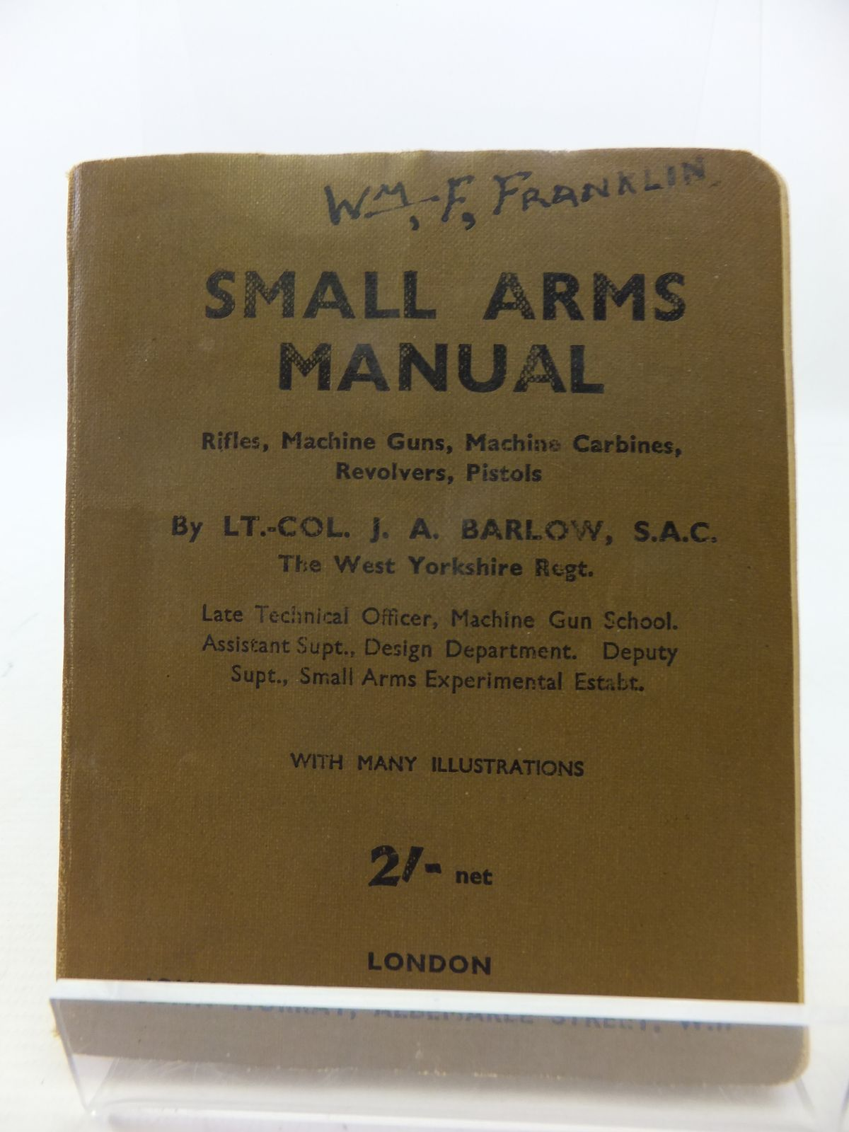Photo of SMALL ARMS MANUAL written by Barlow, J.A.<br />Johnson, R.E.W. published by John Murray (STOCK CODE: 1808317)  for sale by Stella & Rose's Books