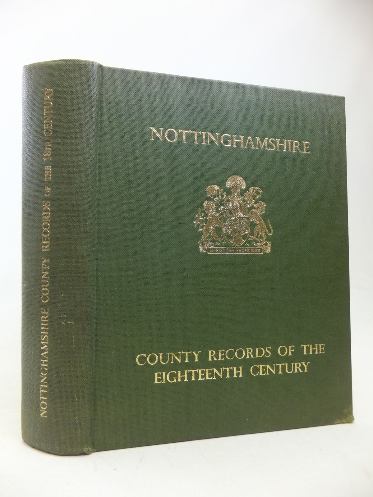 Photo of NOTTINGHAMSHIRE EXTRACTS FROM THE COUNTY RECORDS OF THE EIGHTEENTH CENTURY written by Meaby, K. Tweedale published by Thos. Forman & Sons Ltd. (STOCK CODE: 1810084)  for sale by Stella & Rose's Books