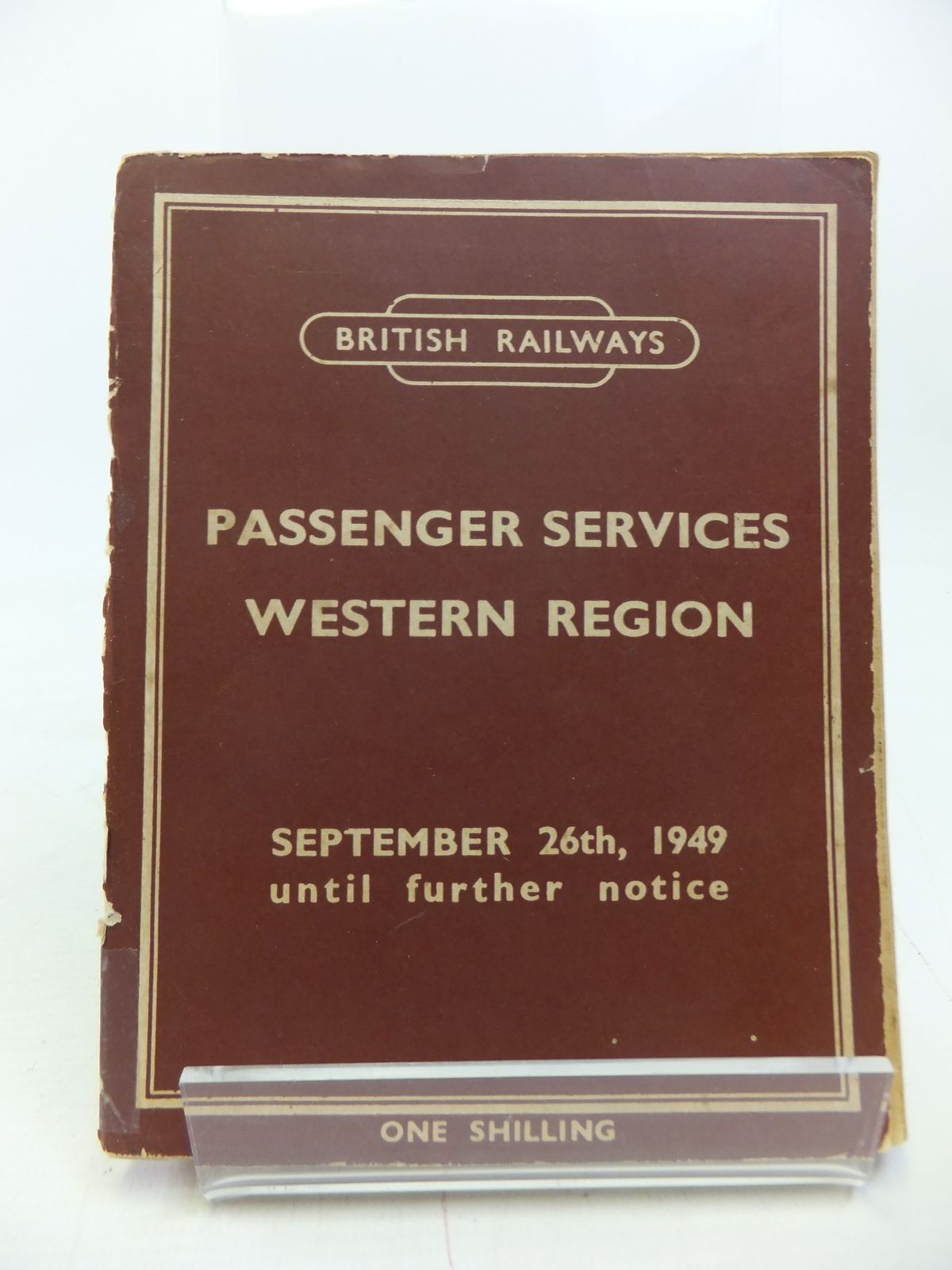Photo of PASSENGER SERVICES WESTERN REGION 1949 published by British Railways (STOCK CODE: 1810613)  for sale by Stella & Rose's Books