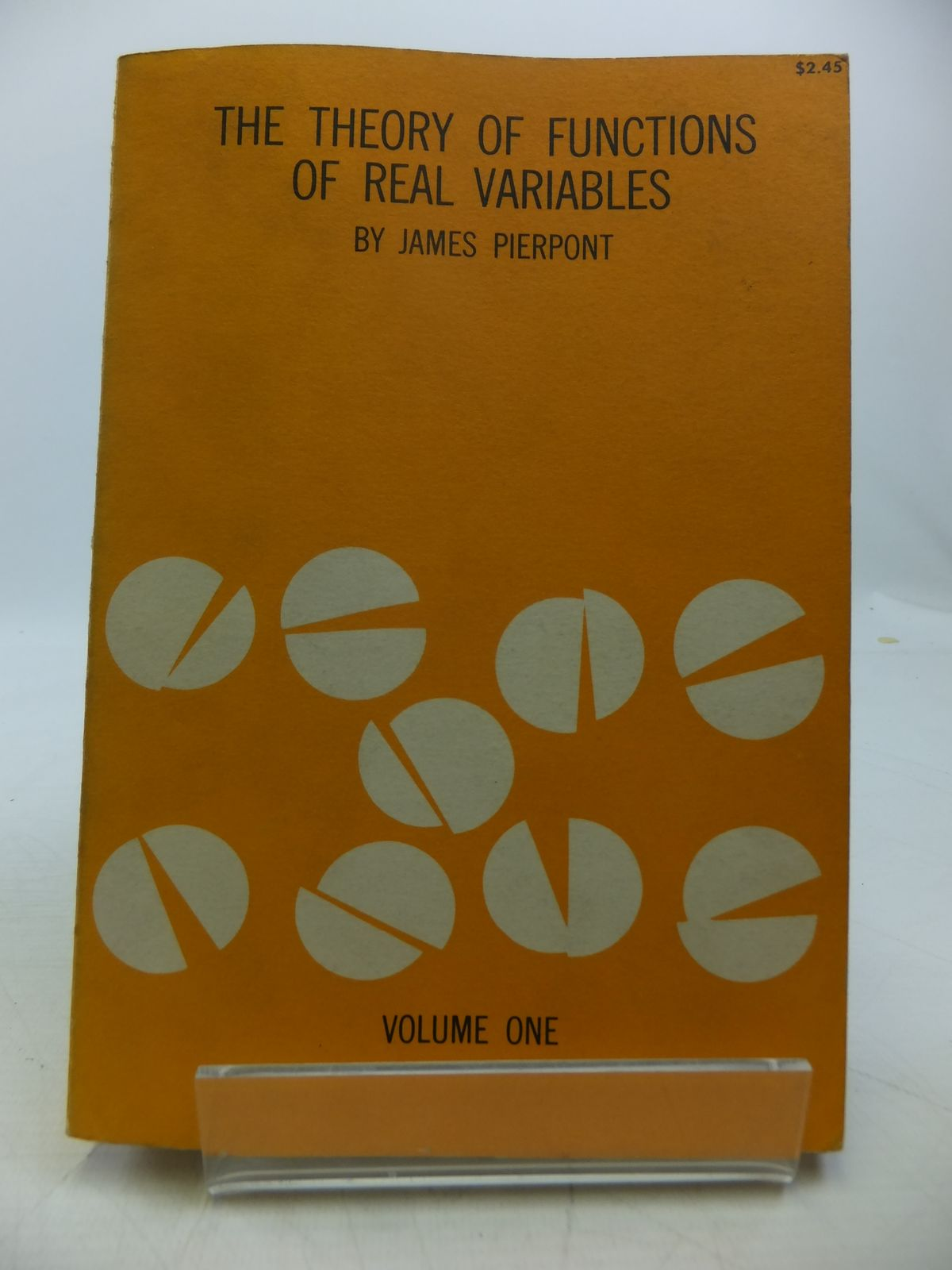 Photo of LECTURES ON THE THEORY OF FUNCTIONS OF REAL VARIABLES VOLUME I written by Pierpont, James published by Dover Publications Inc. (STOCK CODE: 1811414)  for sale by Stella & Rose's Books