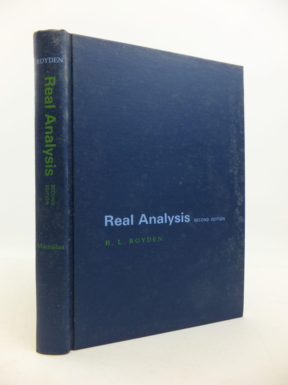 REAL ANALYSIS written by Royden, H L , STOCK CODE: 1811520 : Stella