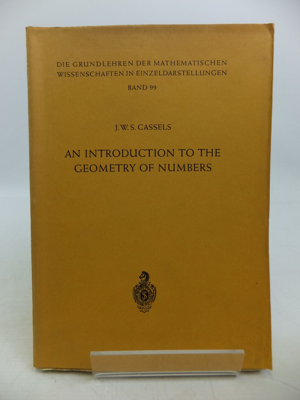 Photo of AN INTRODUCTION TO THE GEOMETRY OF NUMBERS written by Cassels, J.W.S. published by Springer-Verlag (STOCK CODE: 1811617)  for sale by Stella & Rose's Books