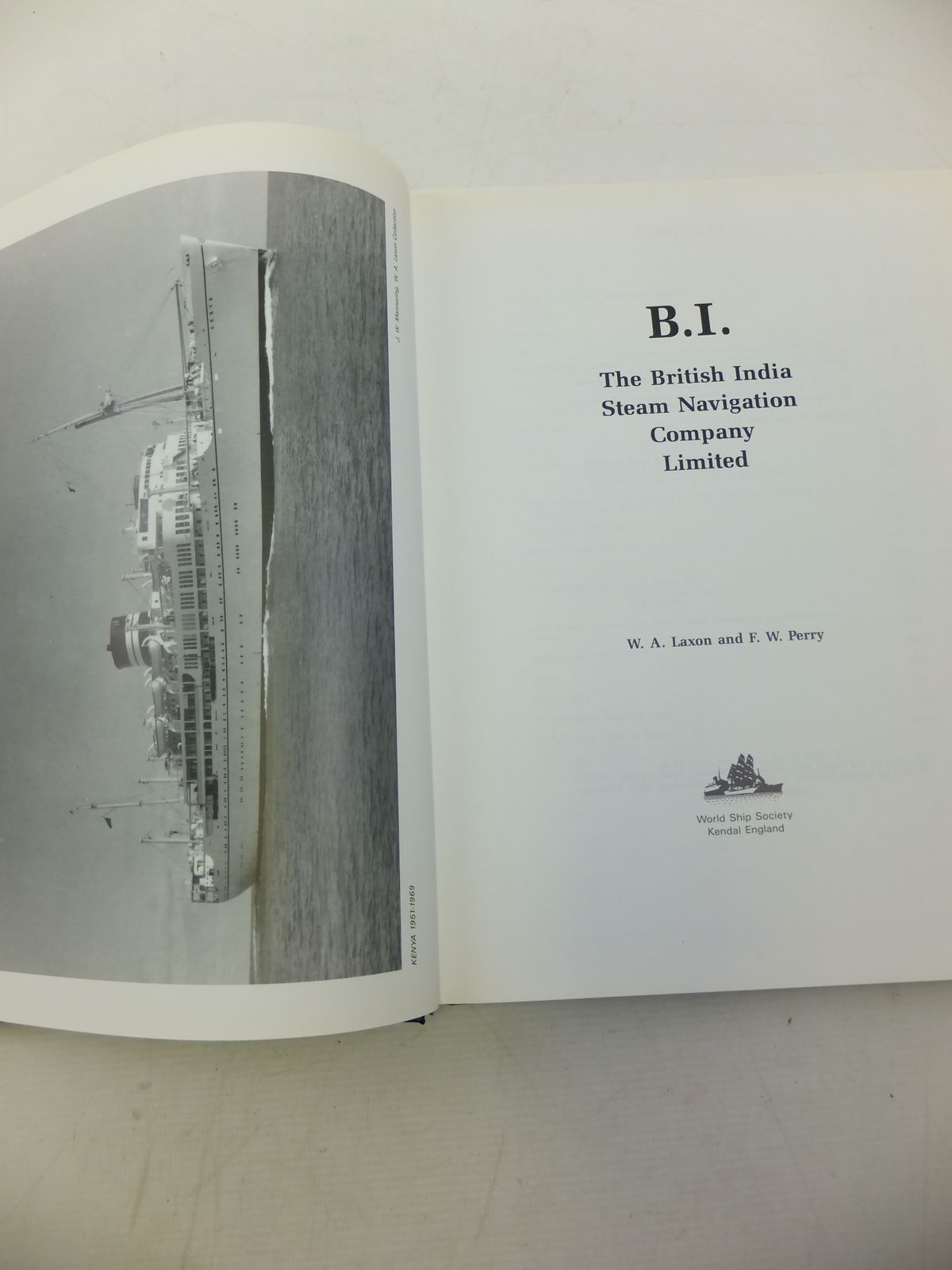 Photo of B.I. THE BRITISH INDIA STEAM NAVIGATION COMPANY LIMITED written by Laxon, W.A.<br />Perry, F.W. published by World Ship Society (STOCK CODE: 1811682)  for sale by Stella & Rose's Books