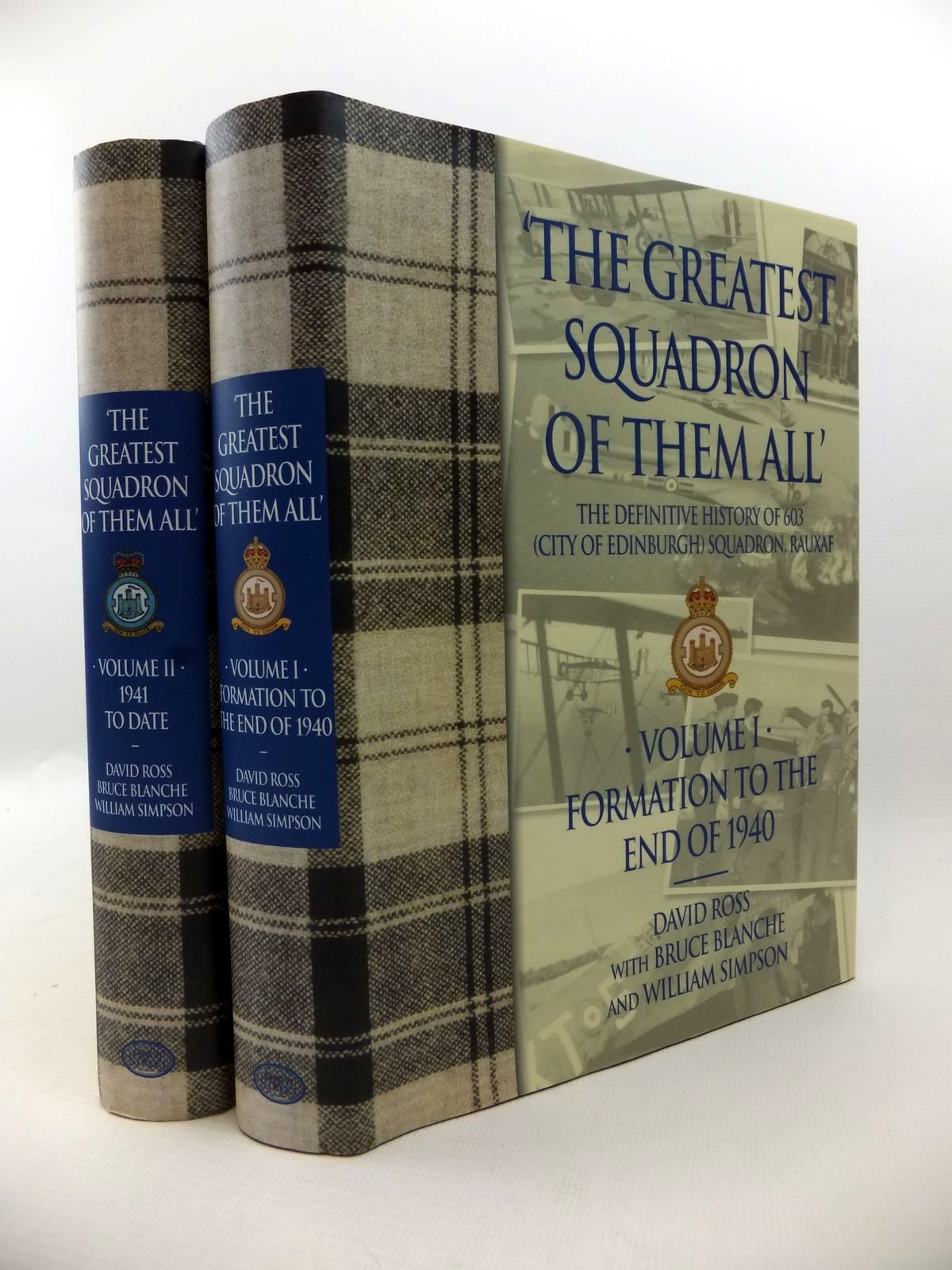 Photo of THE GREATEST SQUADRON OF THEM ALL (2 VOLUMES) written by Ross, David<br />Blanche, Bruce<br />Simpson, Bill published by Grub Street (STOCK CODE: 1813040)  for sale by Stella & Rose's Books