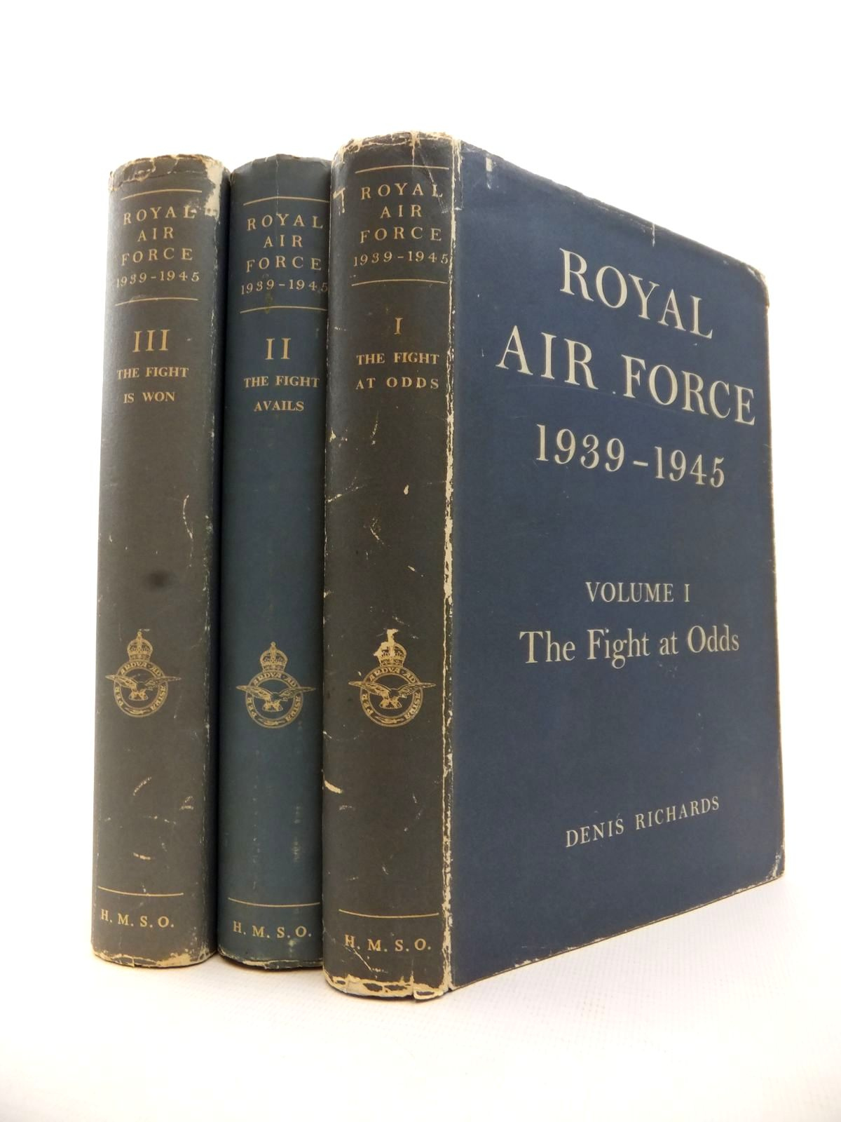 Photo of ROYAL AIR FORCE 1939-1945 (3 VOLUMES) written by Richards, Denis<br />Saunders, Hilary St. George published by Her Majesty's Stationery Office (STOCK CODE: 1813042)  for sale by Stella & Rose's Books