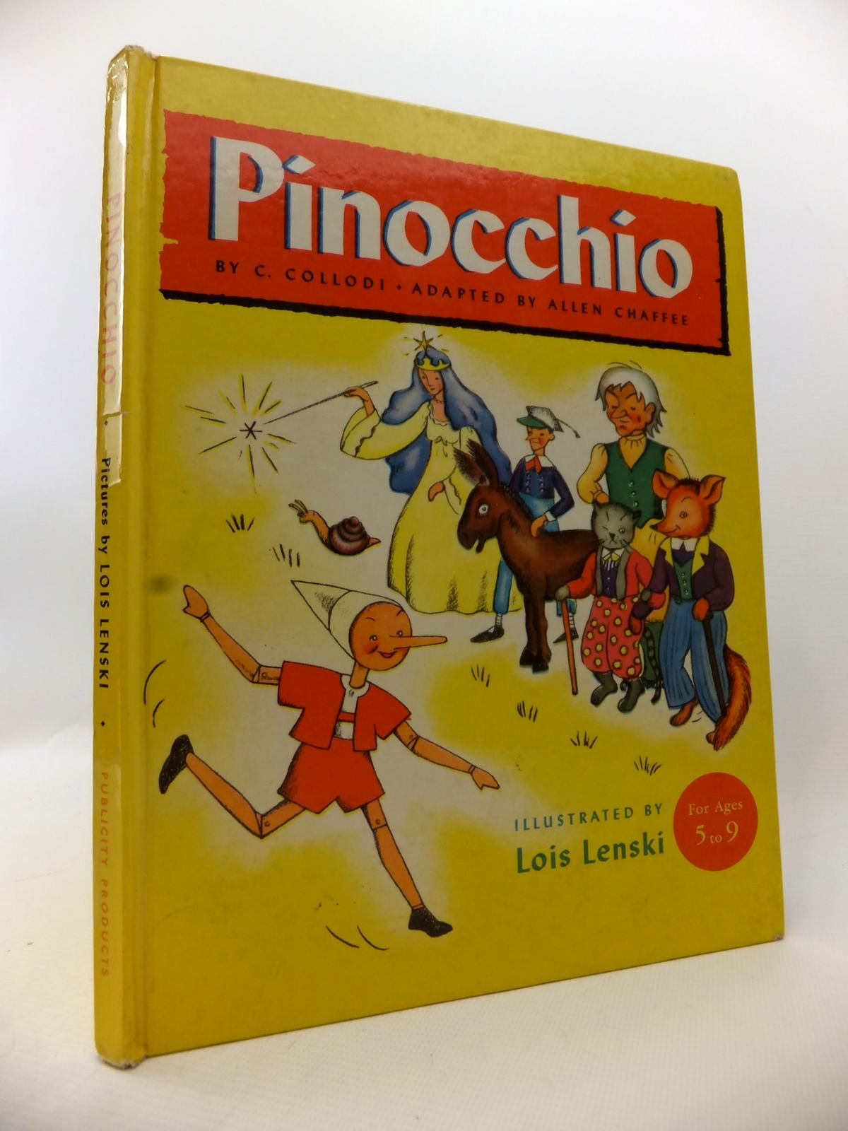 Photo of PINOCCHIO written by Collodi, Carlo<br />Chaffee, Allen illustrated by Lenski, Lois published by Publicity Products Limited (STOCK CODE: 1813605)  for sale by Stella & Rose's Books