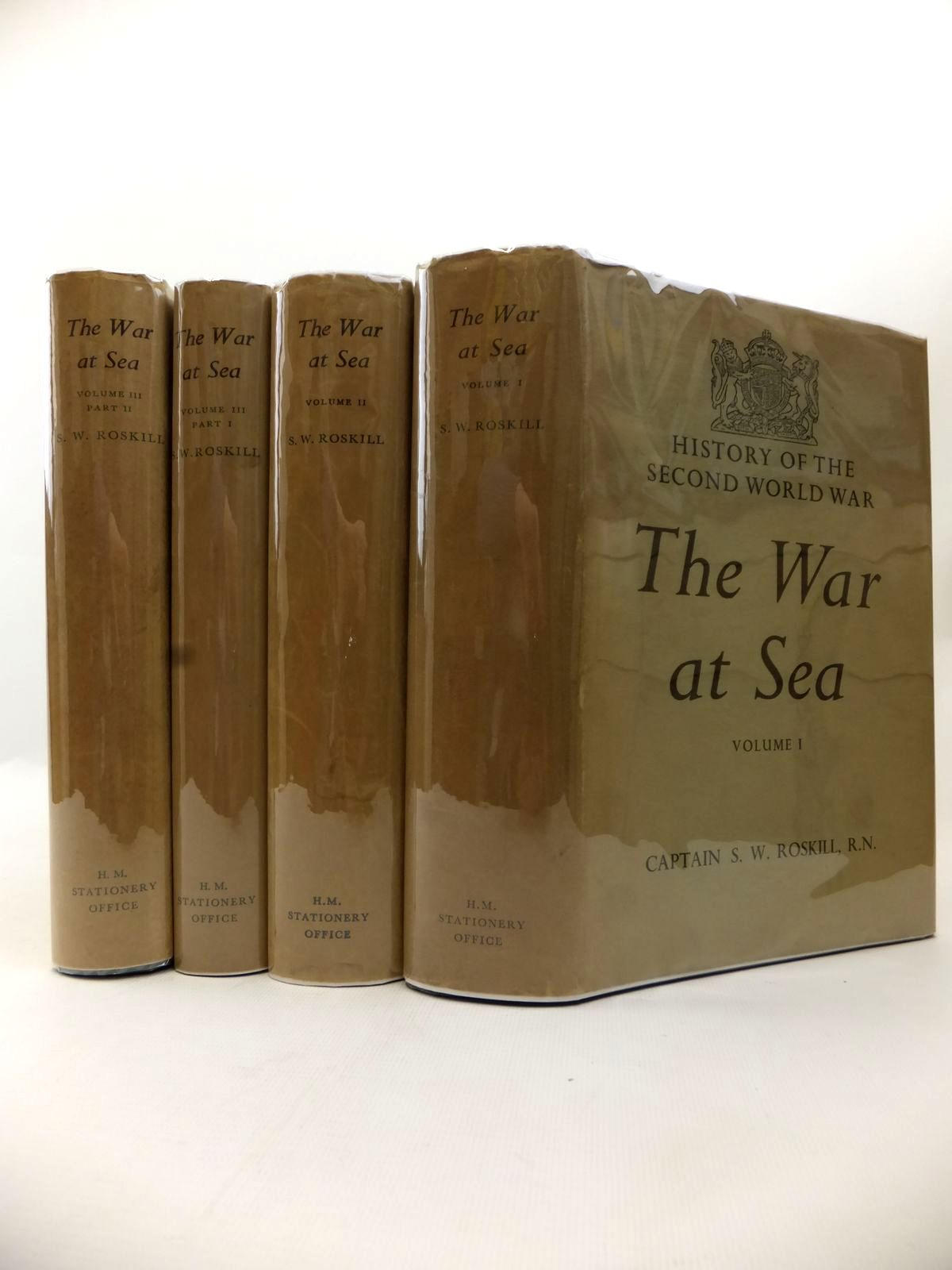 Photo of THE WAR AT SEA 1939-1945 FOUR VOLUMES written by Roskill, Stephen W. published by Her Majesty's Stationery Office (STOCK CODE: 1813791)  for sale by Stella & Rose's Books