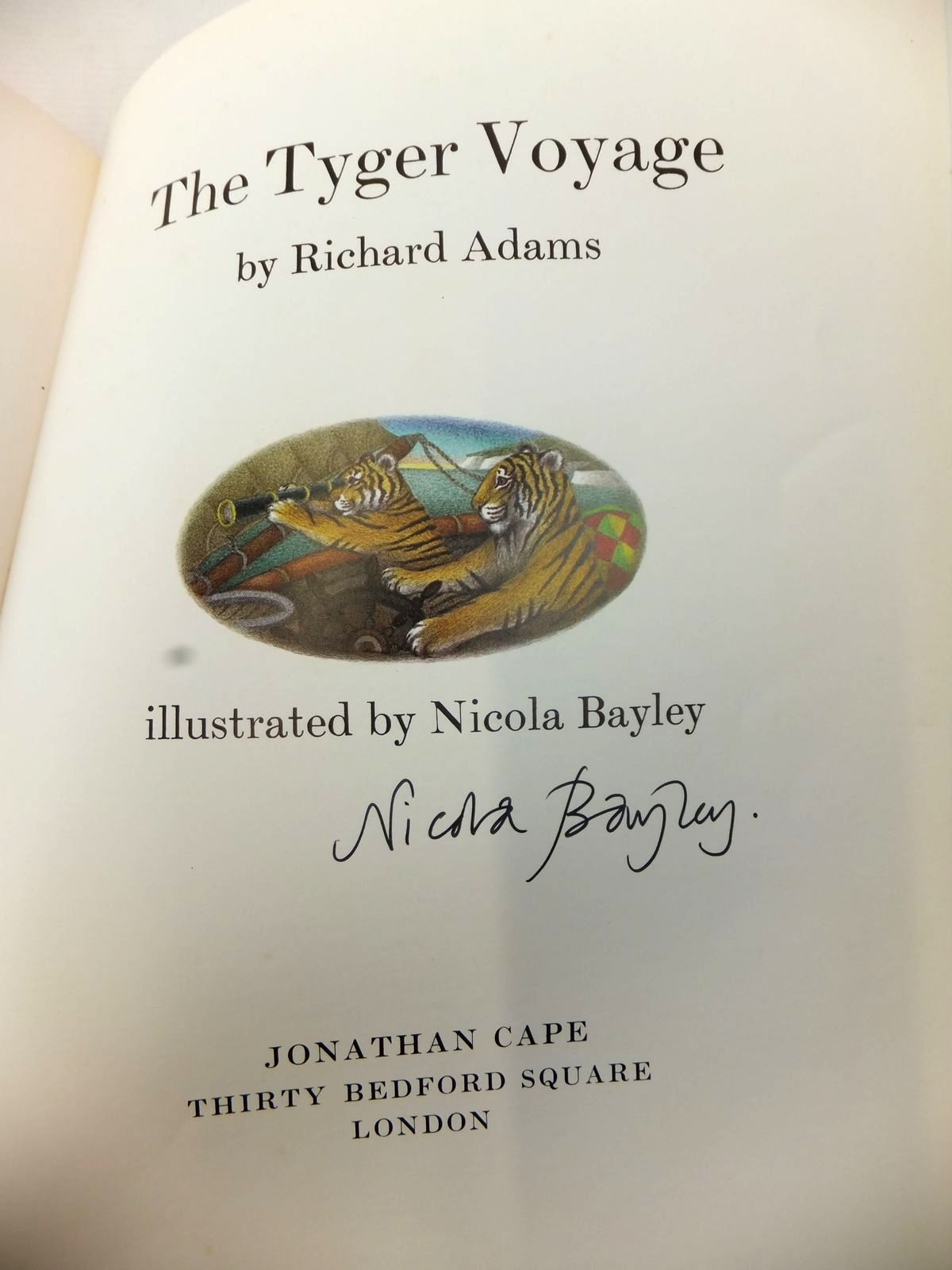 Photo of THE TYGER VOYAGE written by Adams, Richard illustrated by Bayley, Nicola published by Jonathan Cape (STOCK CODE: 1813896)  for sale by Stella & Rose's Books