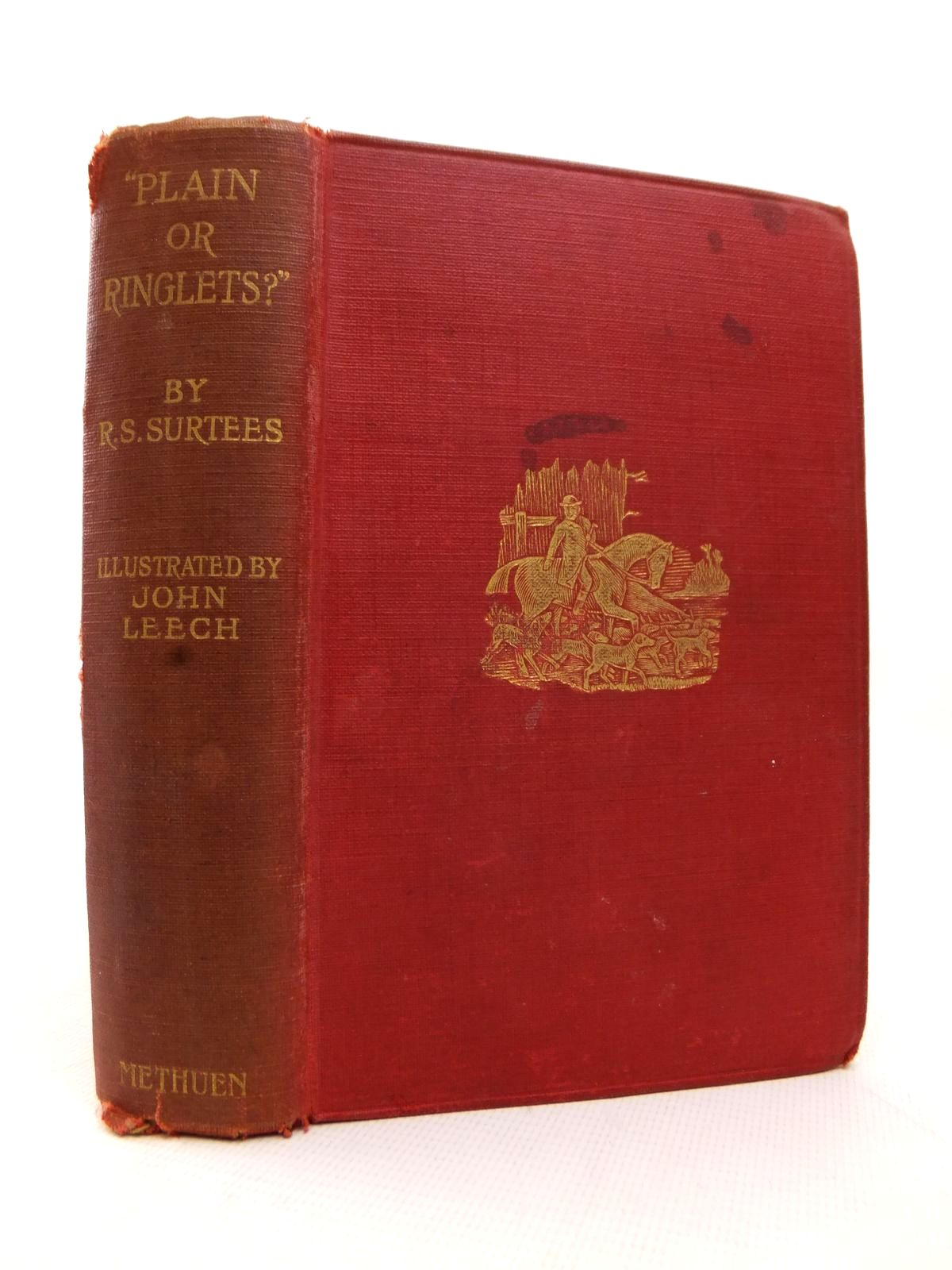 Photo of 'PLAIN OR RINGLETS?' written by Surtees, R.S. illustrated by Leech, John published by Methuen & Co. Ltd. (STOCK CODE: 1814075)  for sale by Stella & Rose's Books