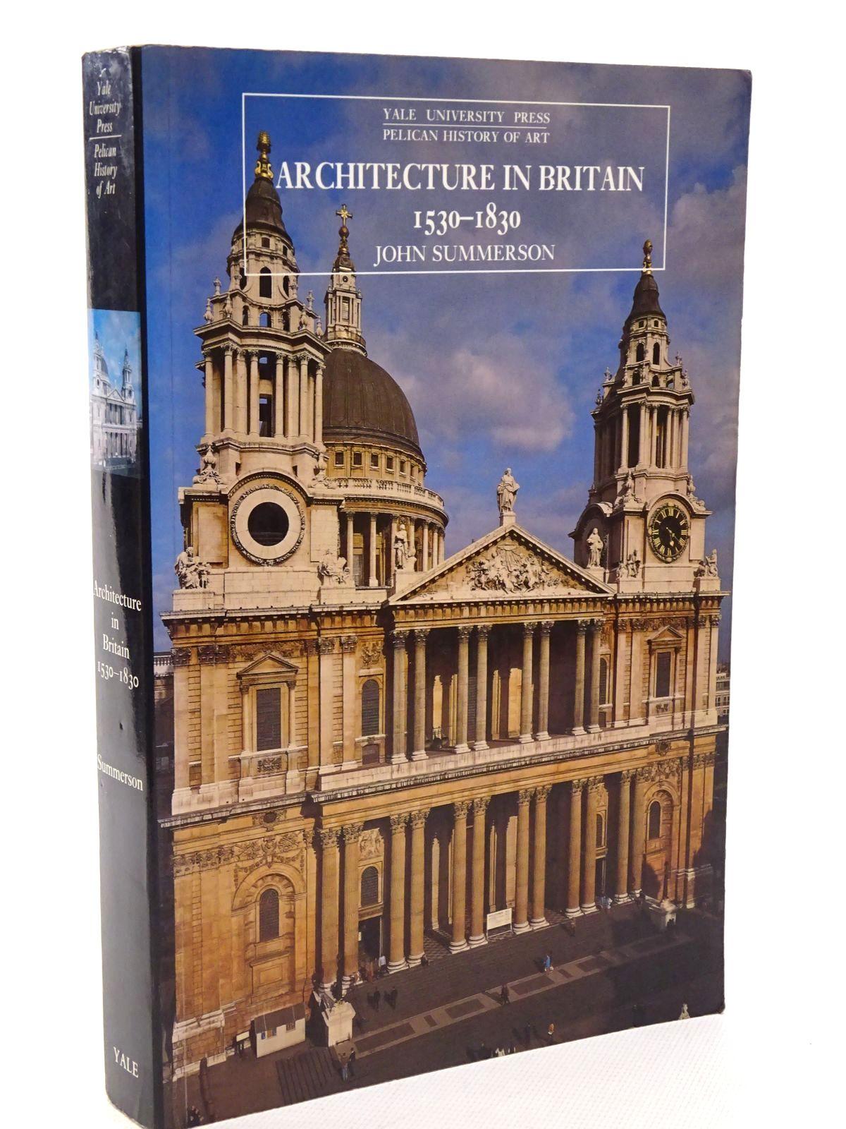 Architecture In Britain 1530-1830