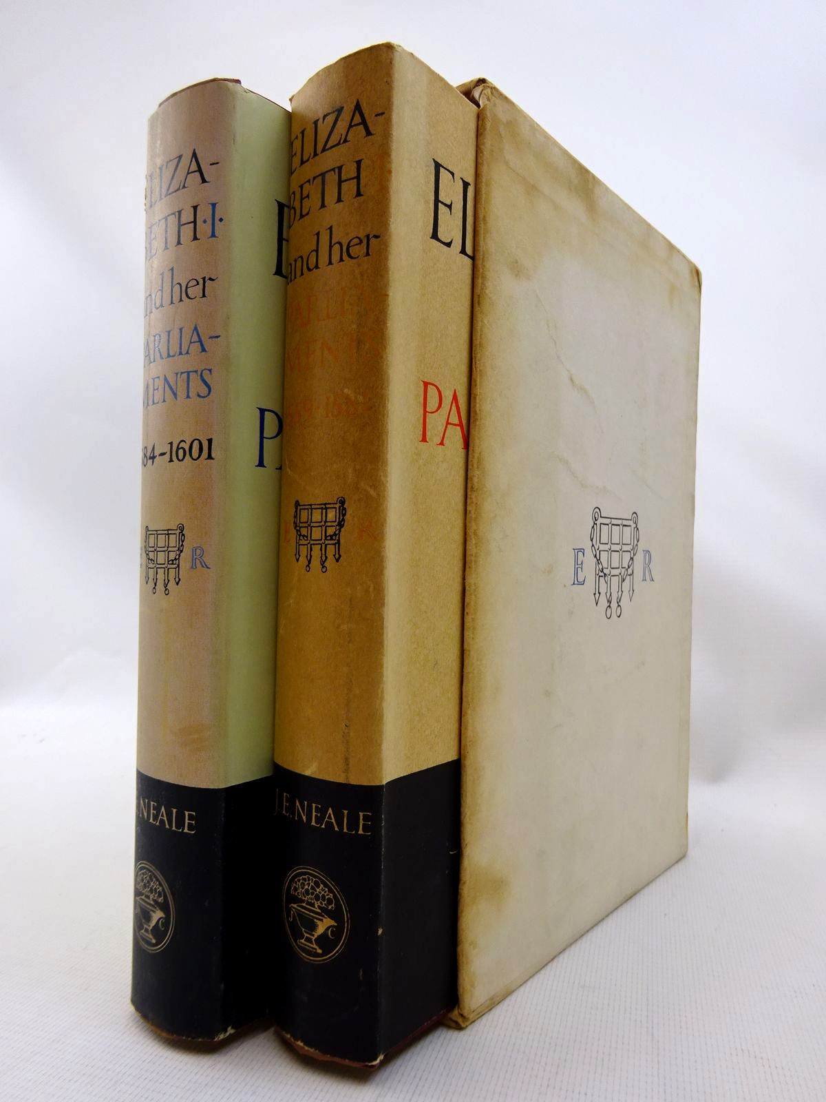 Photo of ELIZABETH I AND HER PARLIAMENTS (2 VOLUMES) written by Neale, J.E. published by Jonathan Cape (STOCK CODE: 1815868)  for sale by Stella & Rose's Books