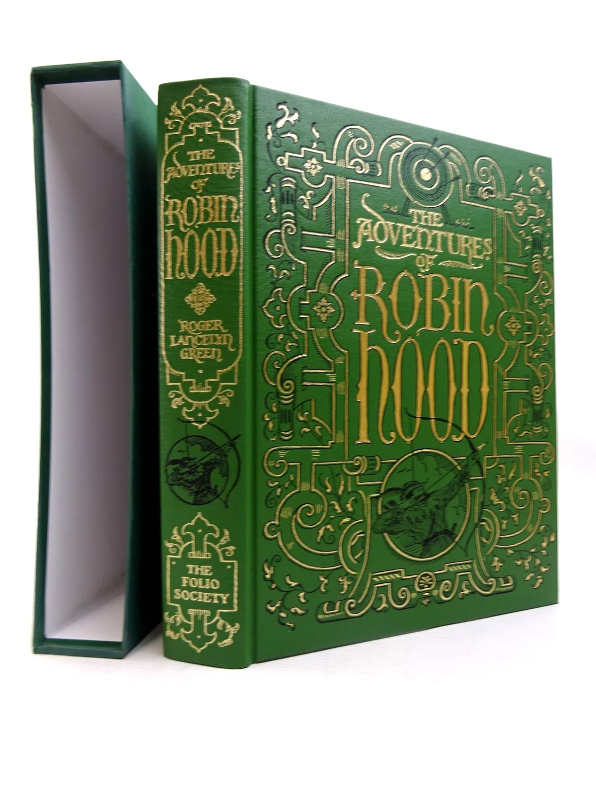 Photo of THE ADVENTURES OF ROBIN HOOD written by Green, Roger Lancelyn illustrated by Holder, John published by Folio Society (STOCK CODE: 1816324)  for sale by Stella & Rose's Books