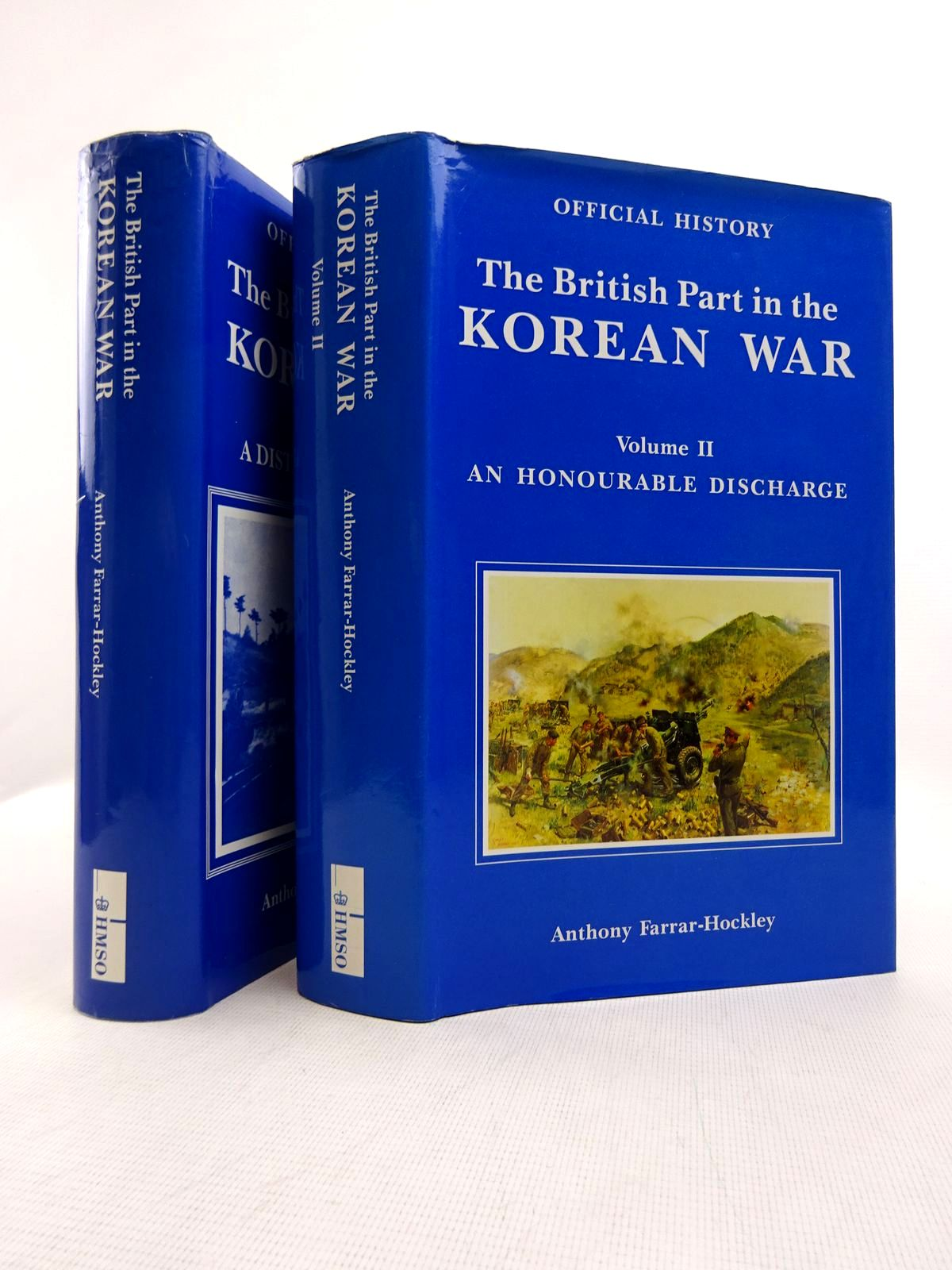 Photo of THE BRITISH PART IN THE KOREAN WAR (2 VOLUMES) written by Farrar-Hockley, Anthony published by HMSO (STOCK CODE: 1816839)  for sale by Stella & Rose's Books