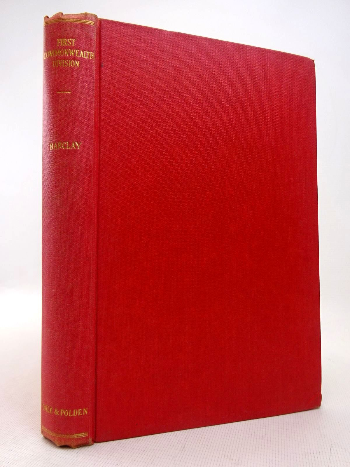 Photo of THE FIRST COMMONWEALTH DIVISION written by Barclay, C.N. published by Gale & Polden, Ltd. (STOCK CODE: 1816900)  for sale by Stella & Rose's Books