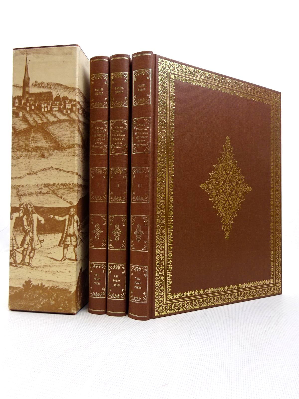 Photo of A TOUR THROUGH THE WHOLE ISLAND OF GREAT BRITAIN (3 VOLUMES) written by Defoe, Daniel<br />Rogers, Pat published by Folio Society (STOCK CODE: 1816990)  for sale by Stella & Rose's Books