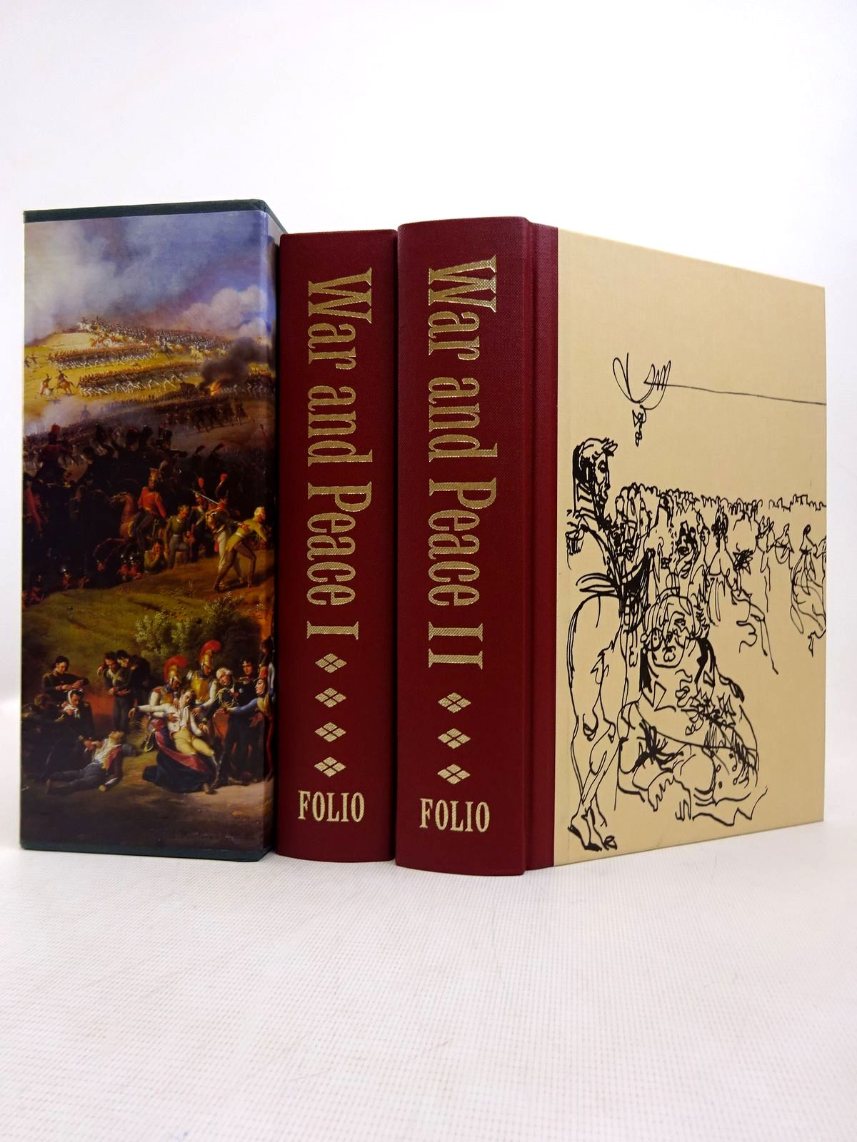 Photo of WAR AND PEACE (2 VOLUMES) written by Tolstoy, Leo illustrated by Topolski, Feliks published by Folio Society (STOCK CODE: 1816991)  for sale by Stella & Rose's Books