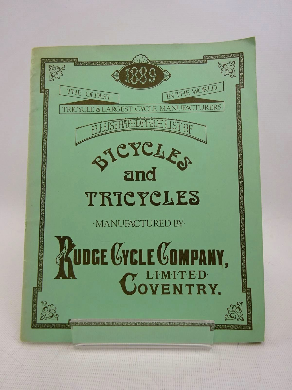 Photo of RUDGE CYCLE COMPANY LIMITED ILLUSTRATED PRICE LIST OF THEIR CELEBRATED AND WORLD-RENOWNED BICYCLES AND TRICYCLES (STOCK CODE: 1817047)  for sale by Stella & Rose's Books