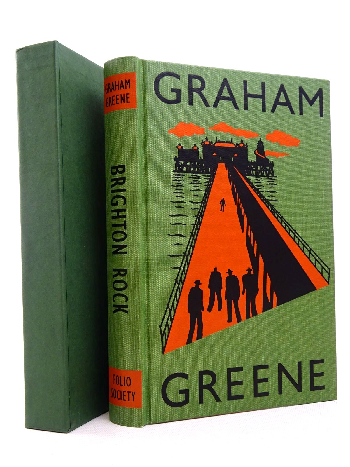 Photo of BRIGHTON ROCK written by Greene, Graham<br />Sutherland, John illustrated by Grandfield, Geoff published by Folio Society (STOCK CODE: 1817080)  for sale by Stella & Rose's Books
