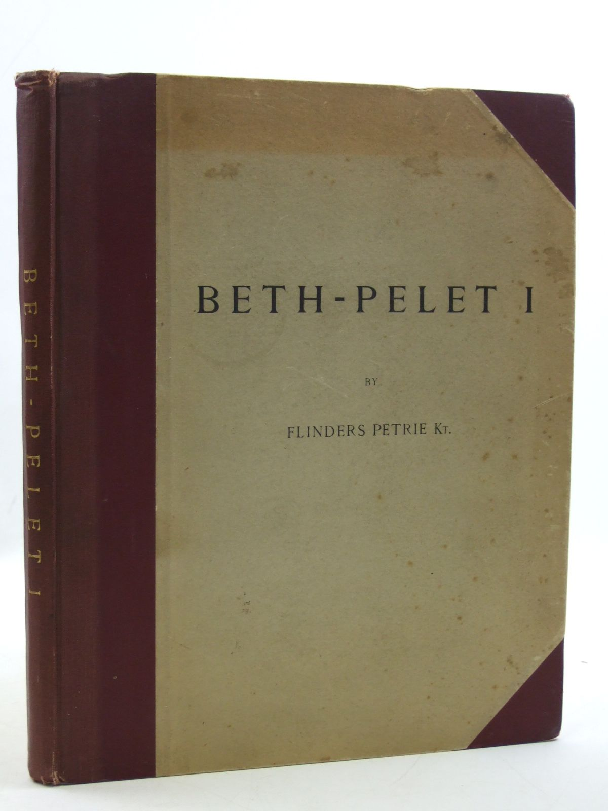 Photo of BETH-PELET I (TELL FARA) written by Petrie, Flinders<br />Tufnell, Olga published by British School Of Archaeology In Egypt, Bernard Quaritch (STOCK CODE: 2109752)  for sale by Stella & Rose's Books