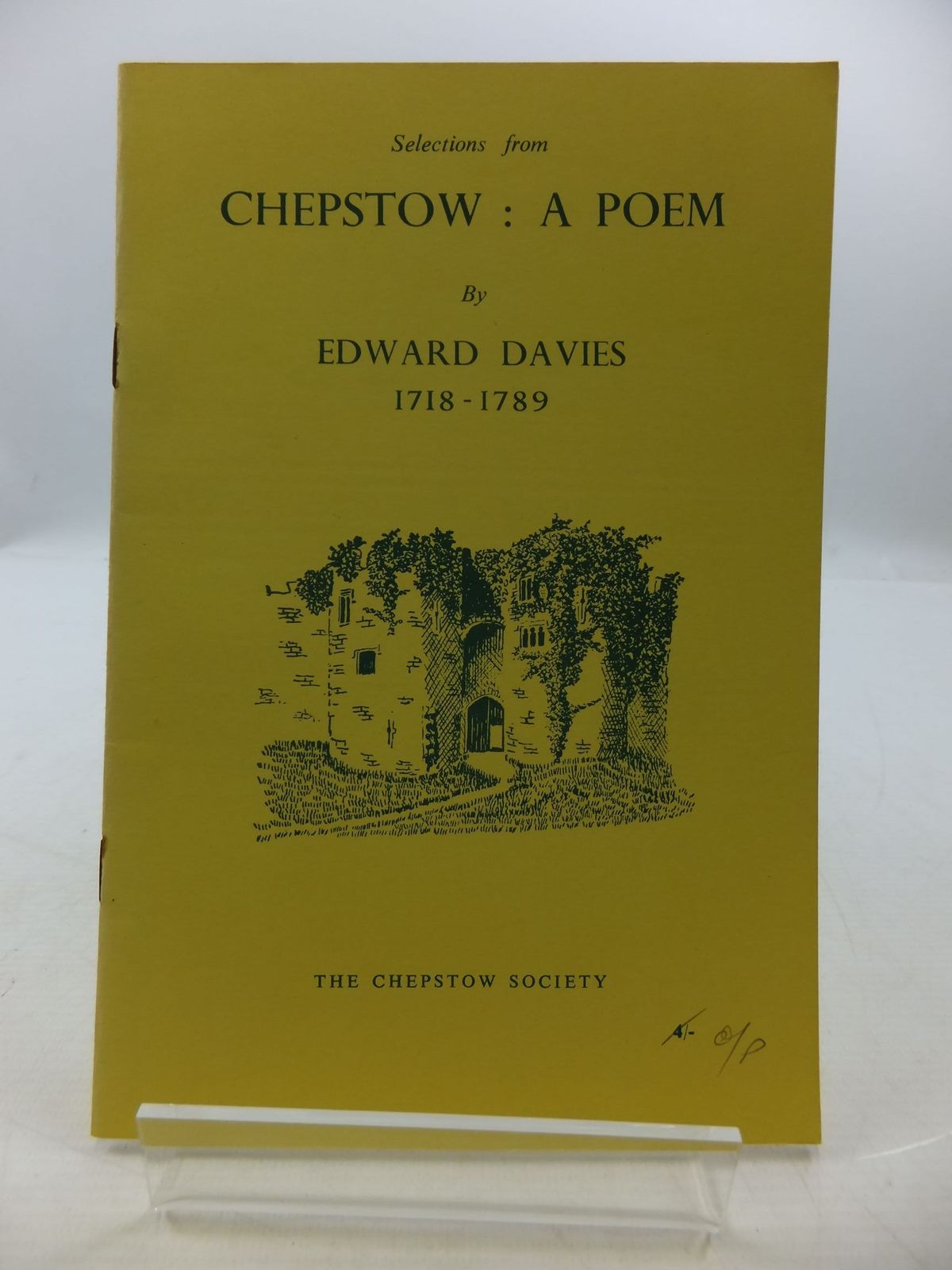 Photo of CHEPSTOW A POEM written by Davies, Edward<br />Waters, Ivor illustrated by Waters, Mercedes published by The Chepstow Society (STOCK CODE: 2110384)  for sale by Stella & Rose's Books