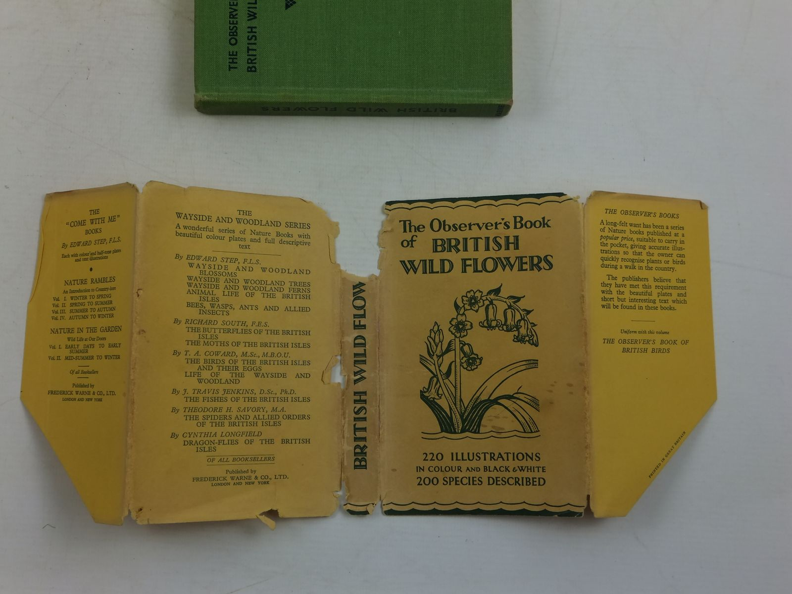 Photo of THE OBSERVER'S BOOK OF BRITISH WILD FLOWERS written by Stokoe,  W.J. published by