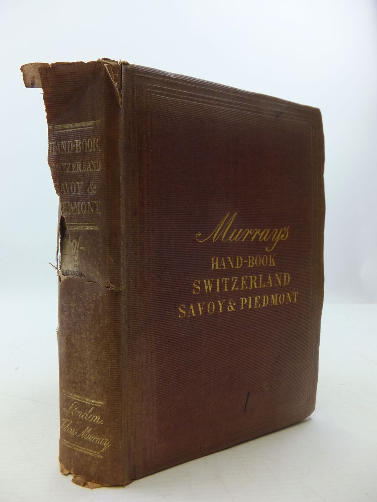 Photo of MURRAY'S HAND-BOOK FOR SWITZERLAND , AND THE ALPS OF SAVOY AND PIEDMONT