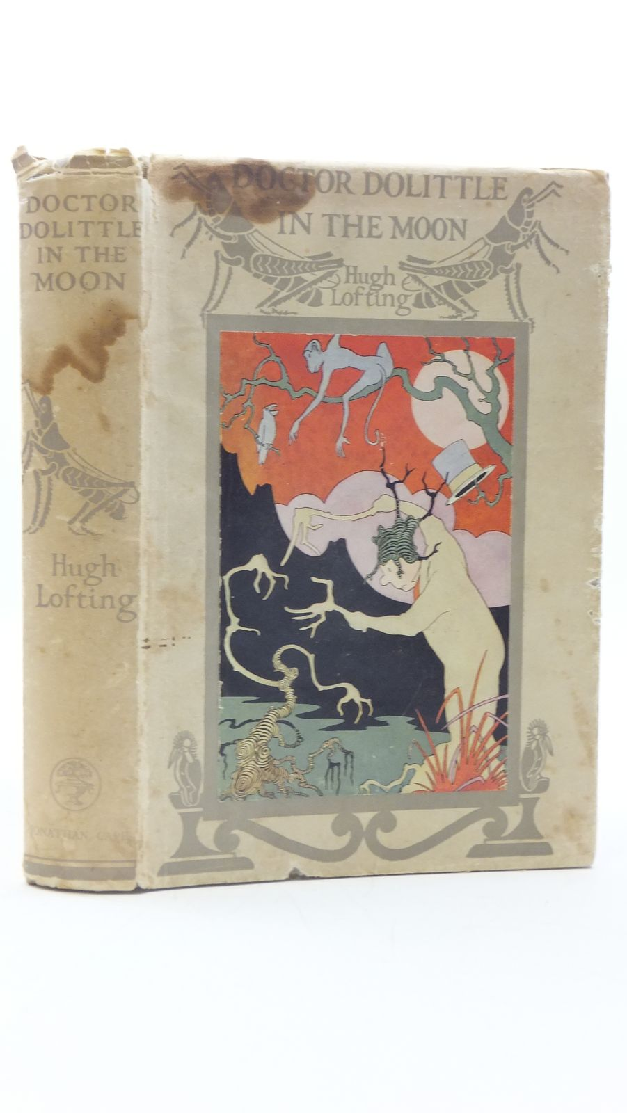 Photo of DOCTOR DOLITTLE IN THE MOON written by Lofting, Hugh illustrated by Lofting, Hugh published by Jonathan Cape (STOCK CODE: 2111628)  for sale by Stella & Rose's Books